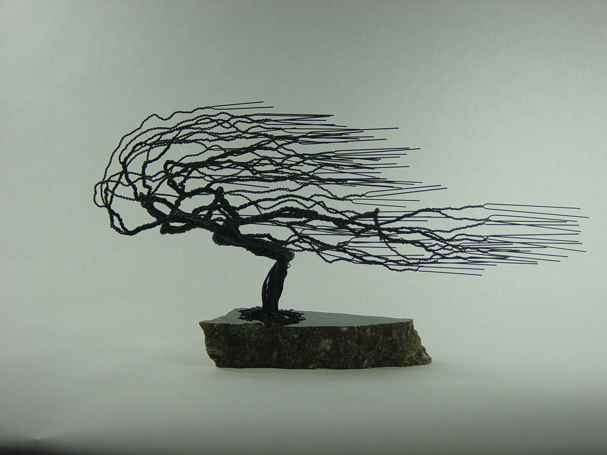 Buy A Hand Made Small Windswept Wire Bonsai Tree Sculpture With Windswept Tree Wall Decor (View 19 of 30)