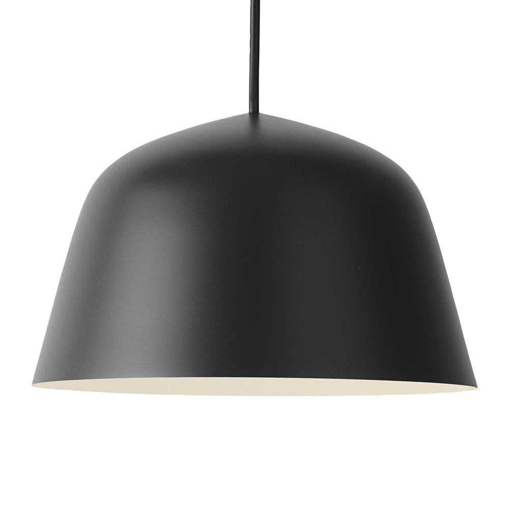 Buy The Ambit Pendant Lamp – Black – Small From Muuto At In Amara 2 Light Dome Pendants (Image 7 of 30)