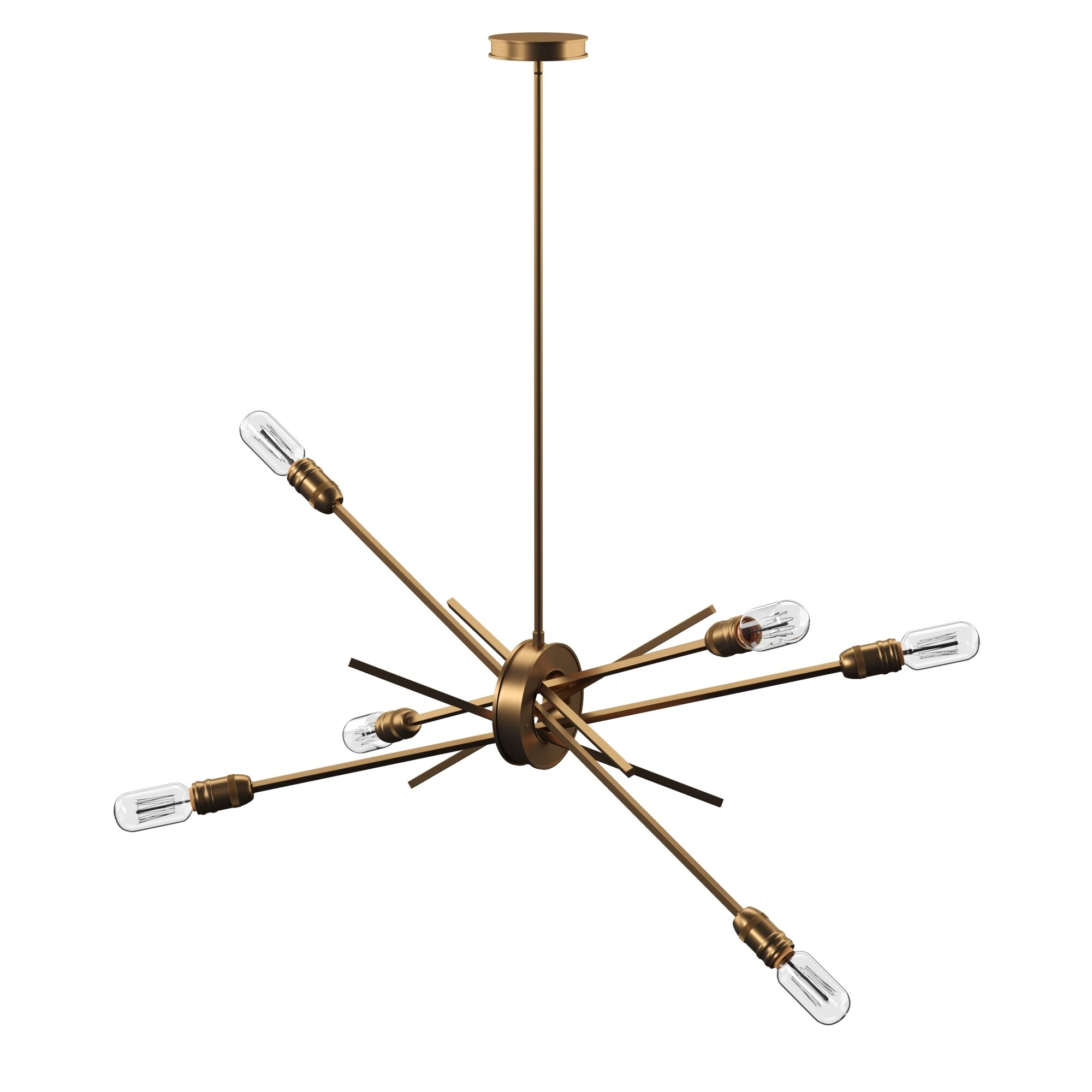 Byler 6 Light Sputnik Chandelier Throughout Vroman 12 Light Sputnik Chandeliers (View 11 of 30)