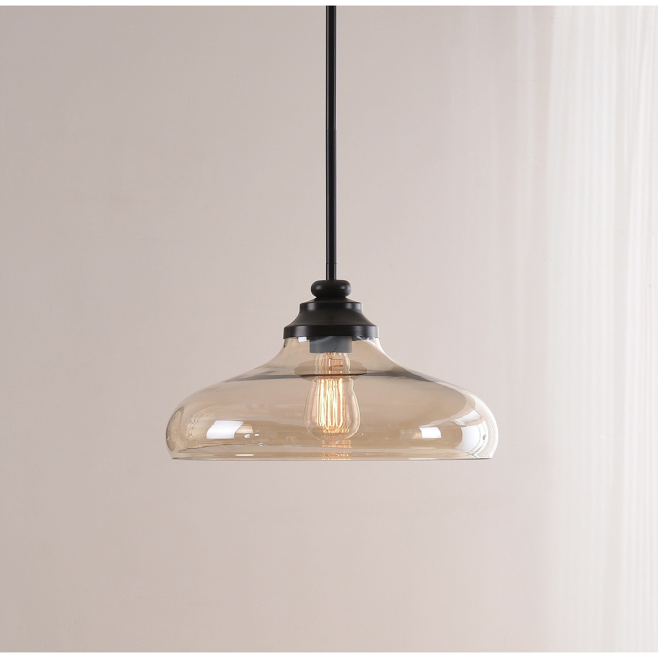 Caden 1 Light Pendant – Oil Rubbed Bronze With Amber Glass Within Cayden 1 Light Single Globe Pendants (View 6 of 30)