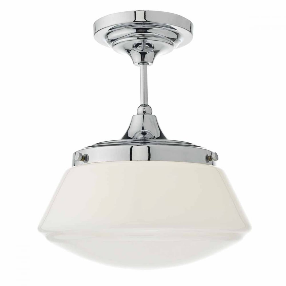 Caden Semi Flush Polished Chrome Bathroom Light With Regard To Cayden 1 Light Single Globe Pendants (View 7 of 30)