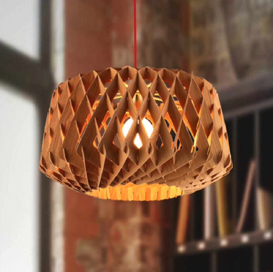 Calfee Wooden 1-Light Geometric Pendant with regard to Melora 1-Light Single Geometric Pendants (Image 6 of 30)