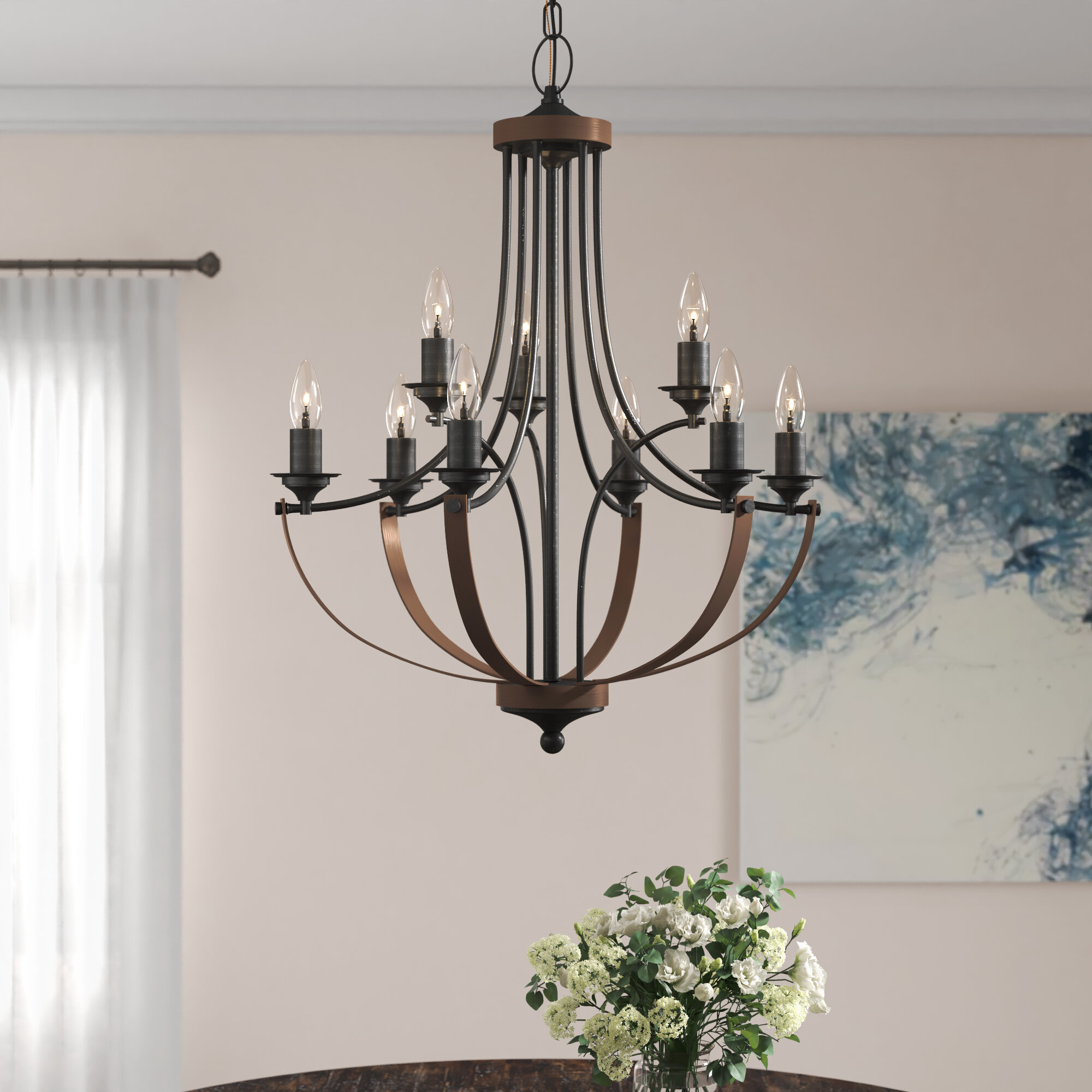 Camilla 9 Light Candle Style Chandelier In Bennington 6 Light Candle Style Chandeliers (View 20 of 30)