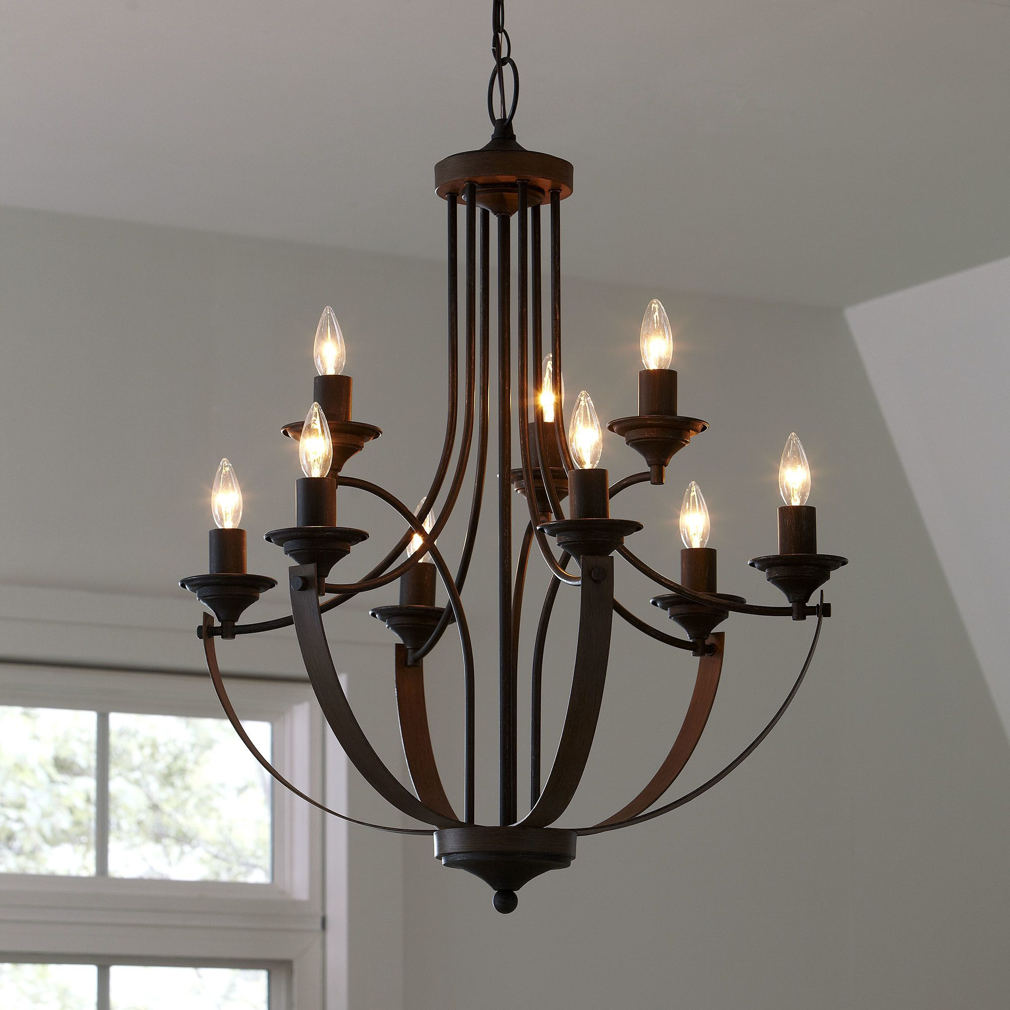 Camilla 9-Light Candle Style Chandelier | Lighting | Rustic for Camilla 9-Light Candle Style Chandeliers (Image 8 of 30)