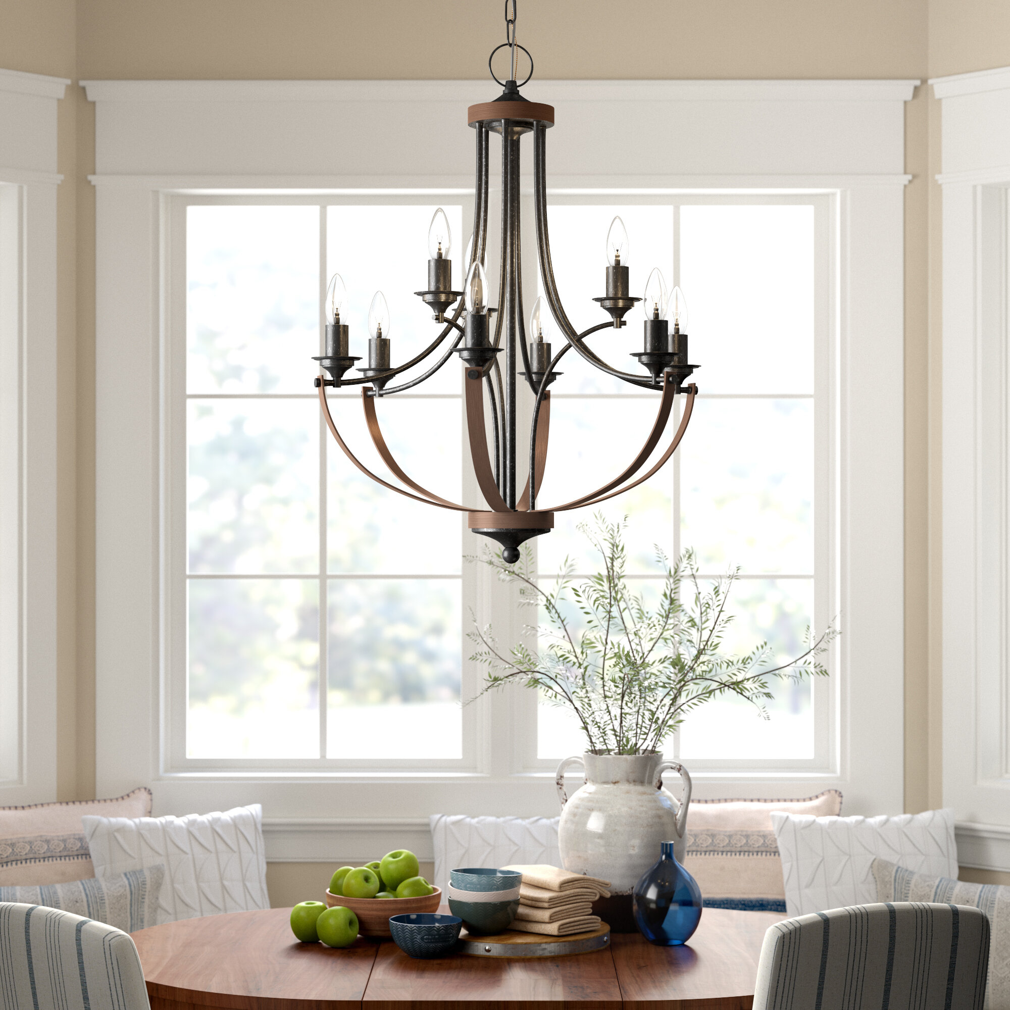 Camilla 9 Light Candle Style Chandelier With Bennington 4 Light Candle Style Chandeliers (View 24 of 30)