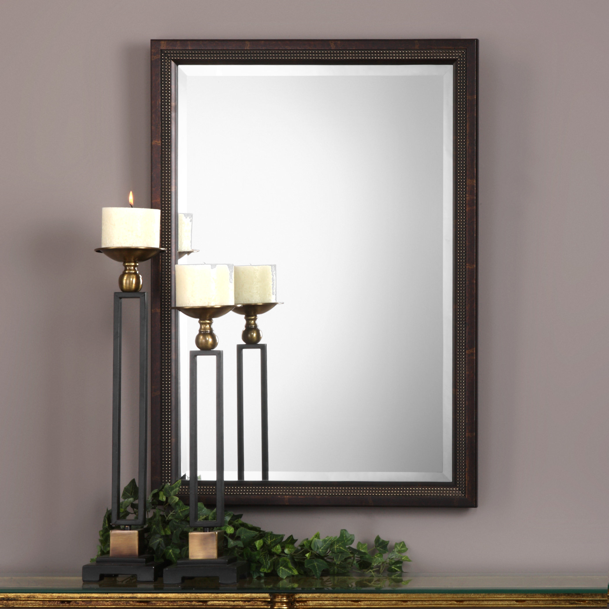 Candelario Triple Beaded Traditional Beveled Accent Mirror Throughout Traditional Beveled Accent Mirrors (View 7 of 30)