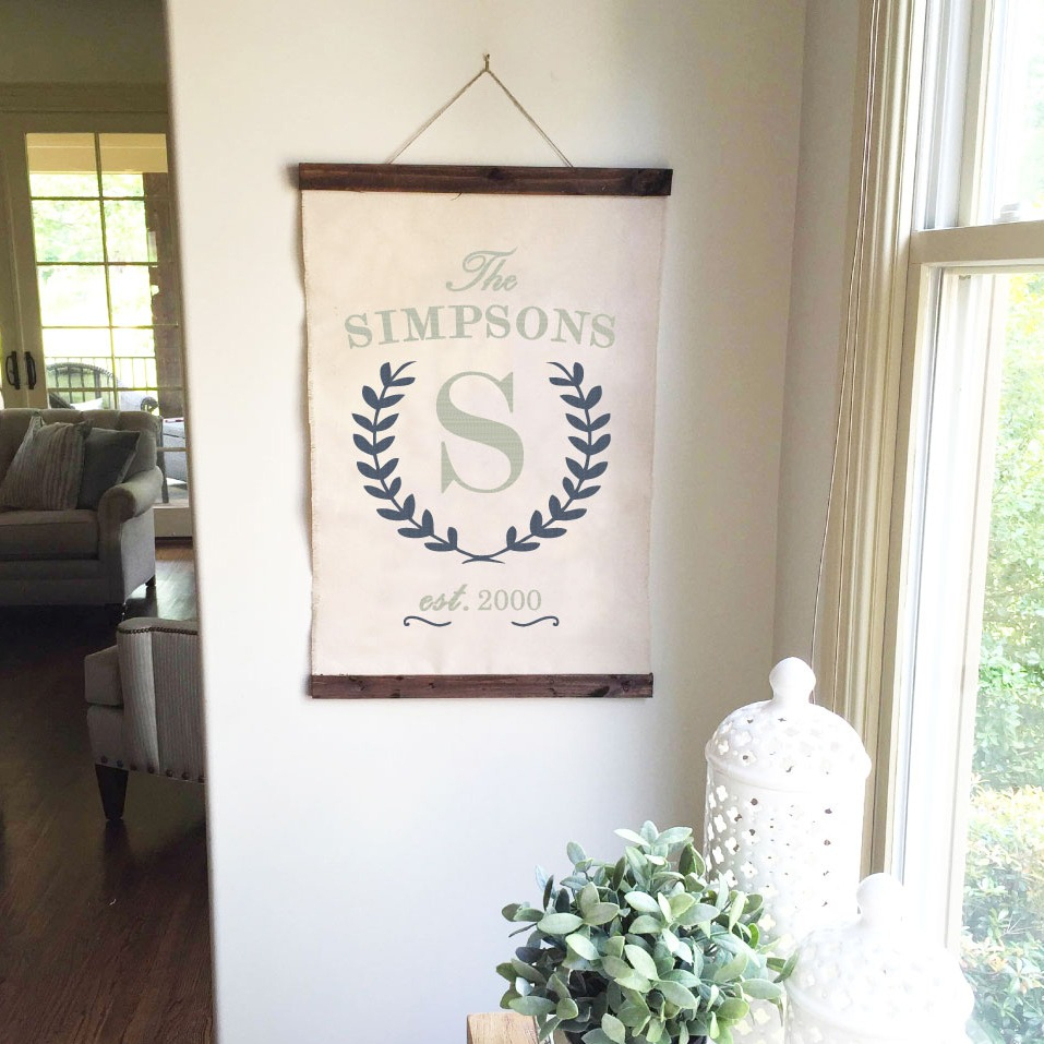 Canvas Wall Hangings - Ar Workshop with regard to Tree Welcome Sign Wall Decor (Image 4 of 30)