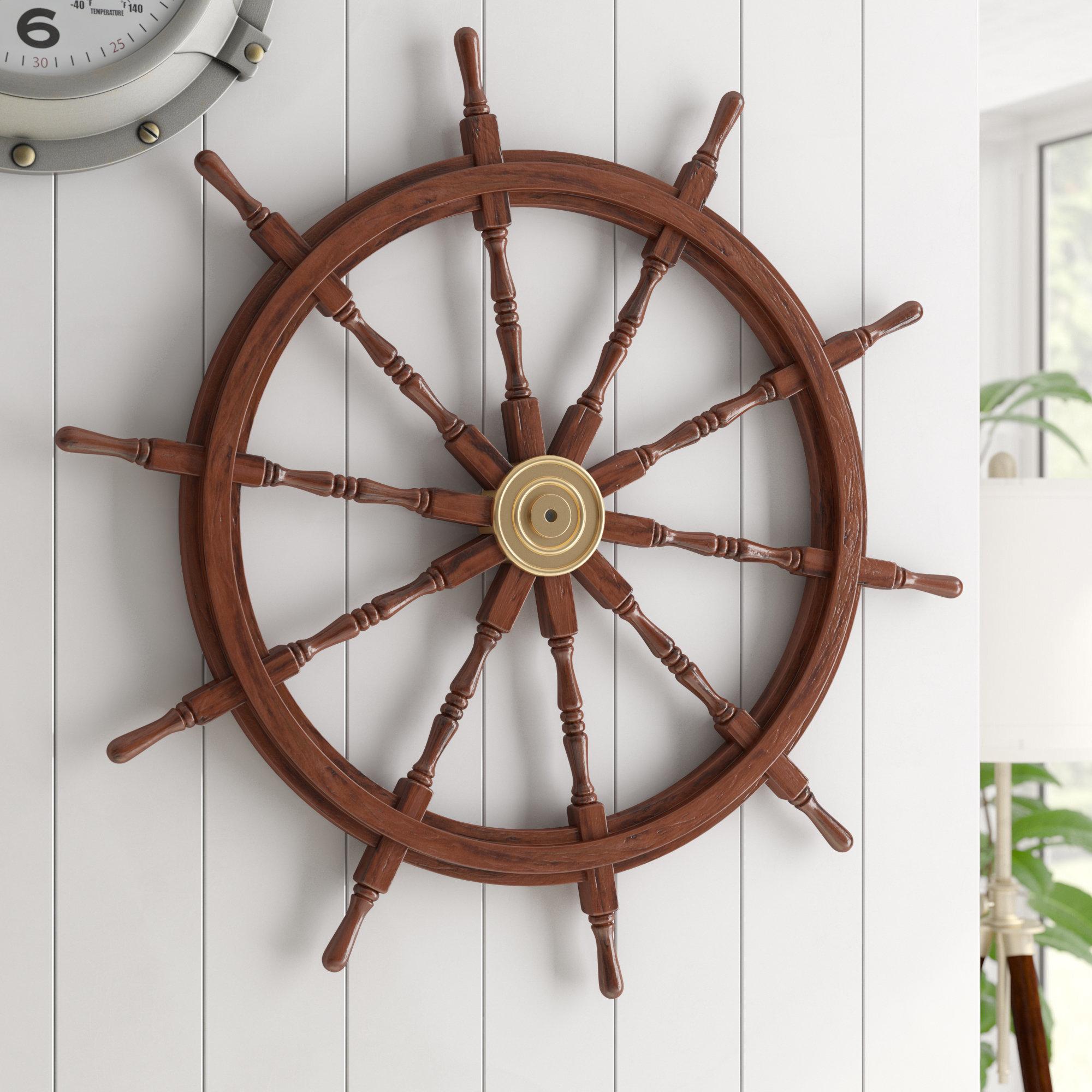 Captains Wheel Wall Decor | Wayfair regarding 4 Piece Handwoven Wheel Wall Decor Sets (Image 9 of 30)