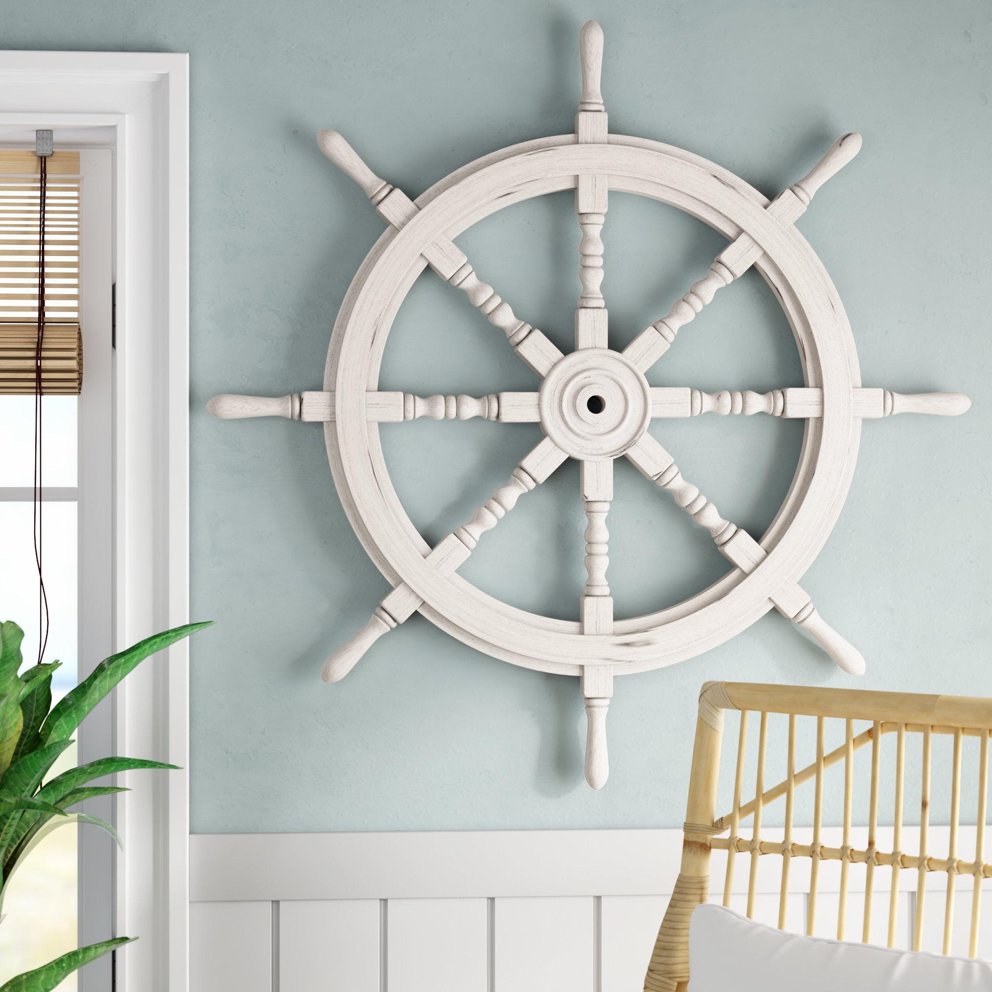 Captains Wheel Wall Decor | Wayfair regarding Millanocket Metal Wheel Photo Holder Wall Decor (Image 6 of 30)