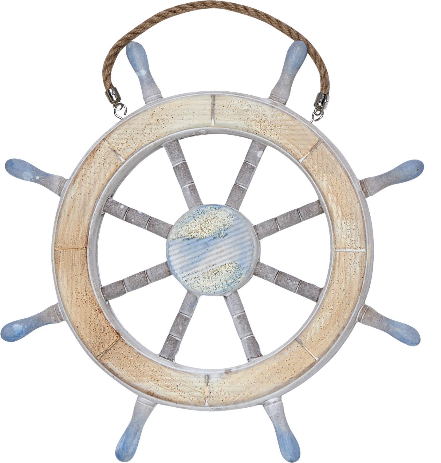 Captains Wheel Wall Decor | Wayfair with regard to 4 Piece Handwoven Wheel Wall Decor Sets (Image 10 of 30)