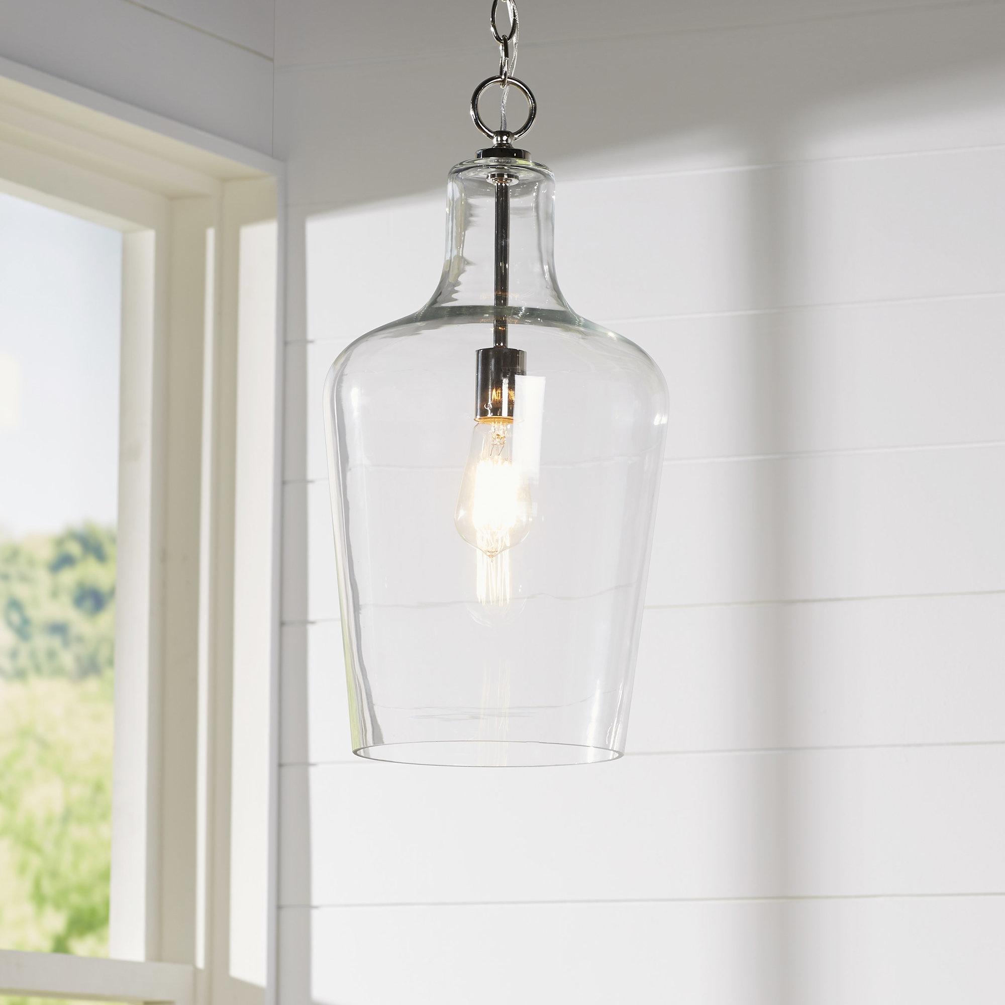 Popular Photo of Carey 1 Light Single Bell Pendants