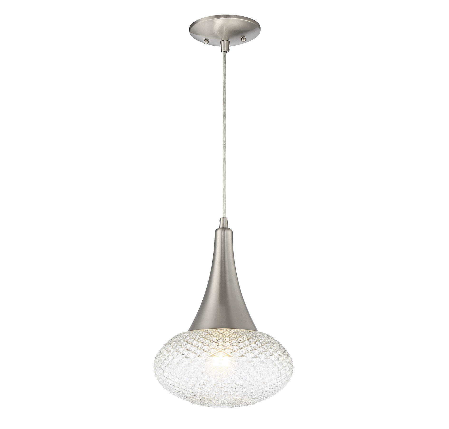 Carly 1 Light Single Teardrop Pendant Throughout Abordale 1 Light Single Dome Pendants (View 14 of 30)