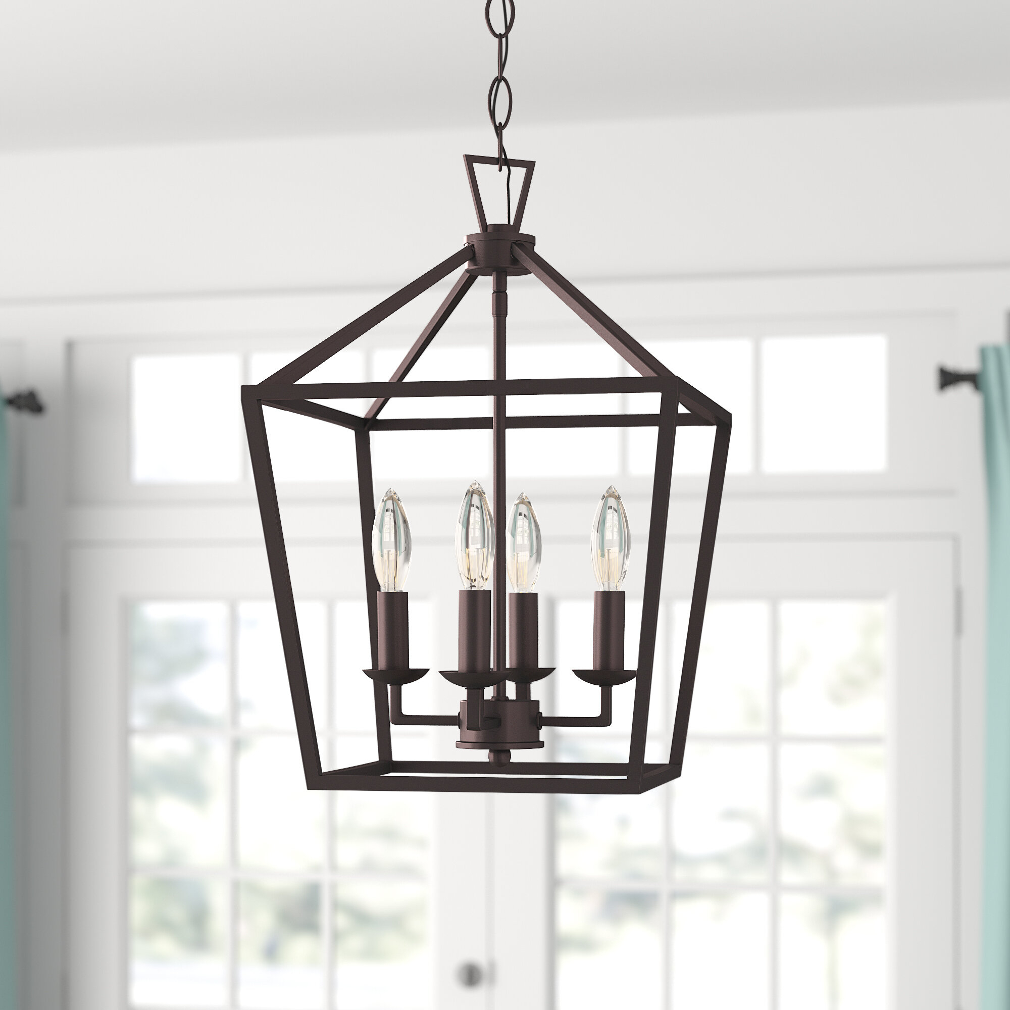 Carmen 4 Light Lantern Geometric Pendant & Reviews | Joss & Main With Delon 1 Light Lantern Geometric Pendants (View 12 of 30)