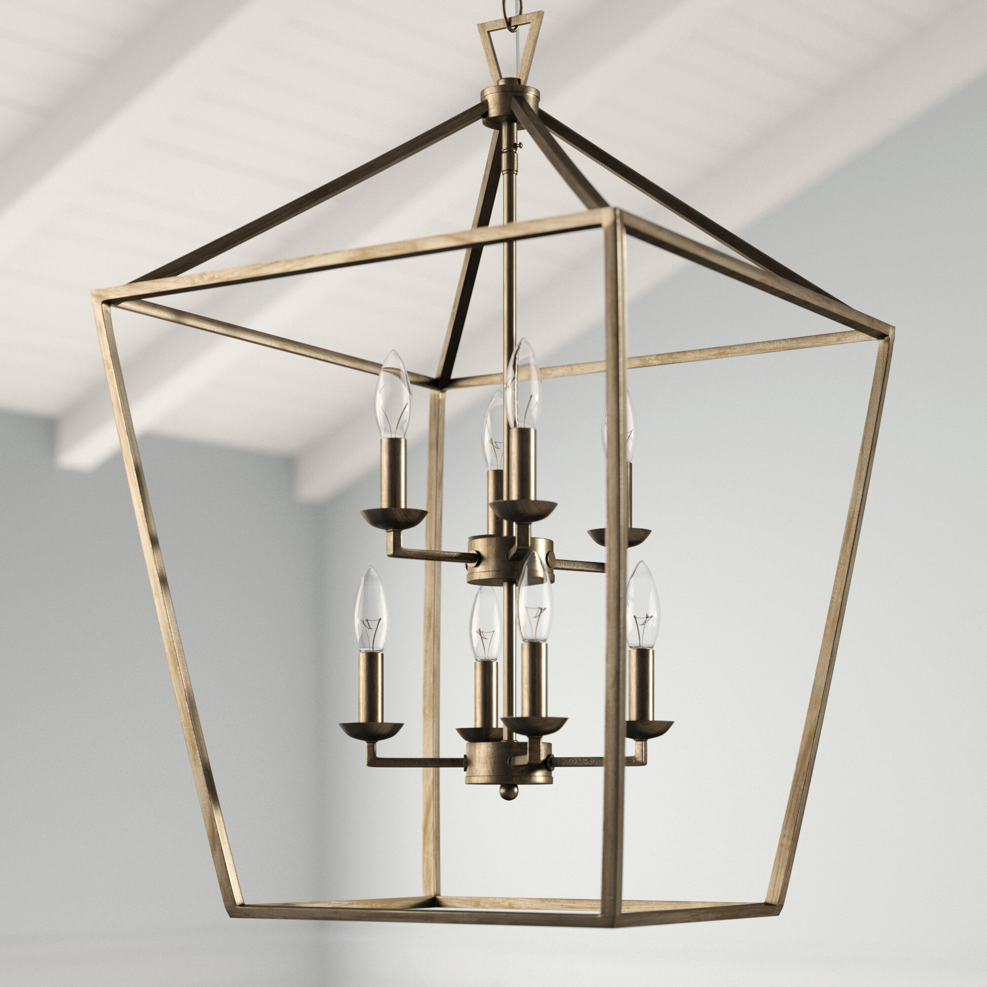 Carmen 8 Light Lantern Geometric Pendant For Odie 8 Light Lantern Square / Rectangle Pendants (View 4 of 30)