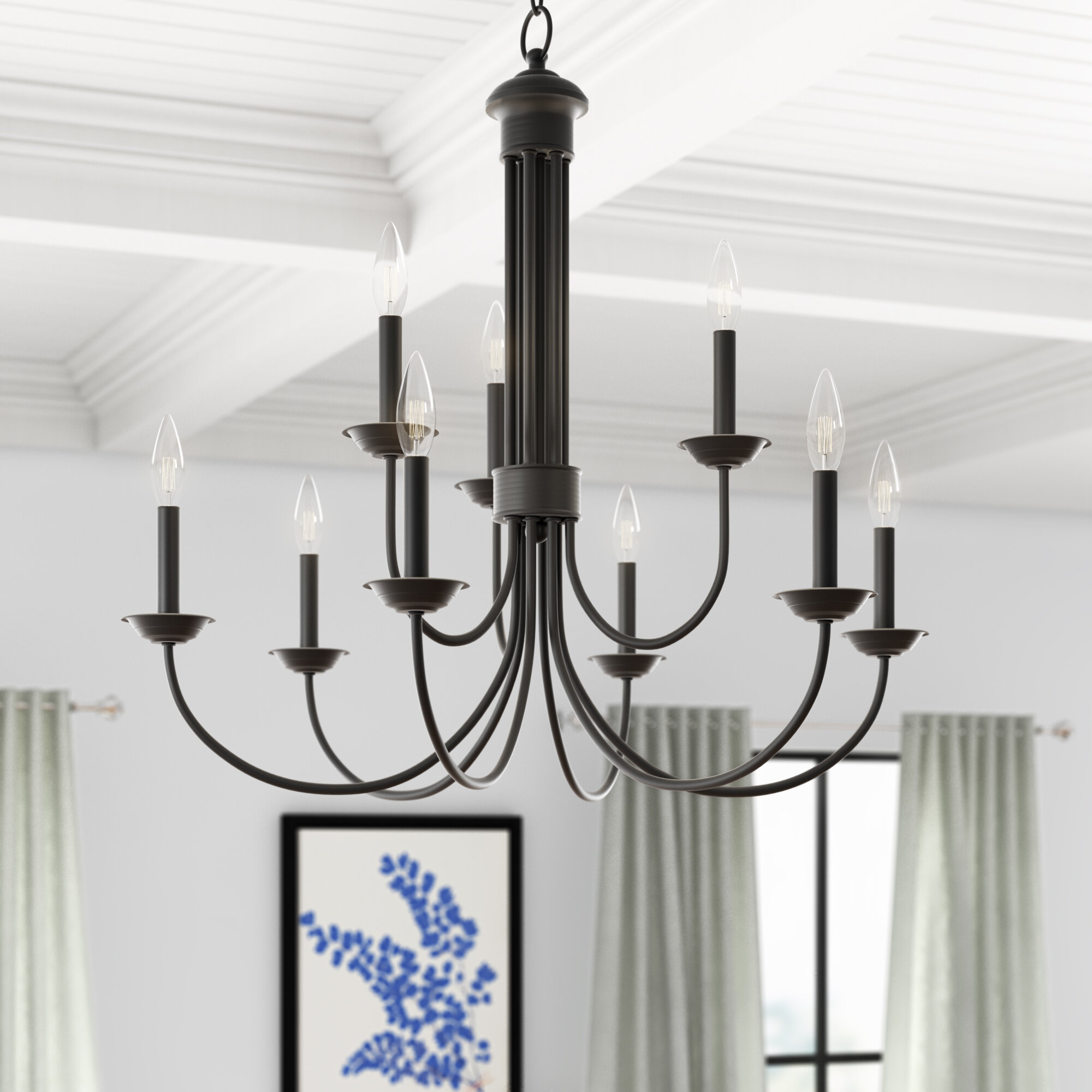 Carruthers 9 Light Candle Style Chandelier For Annuziata 3 Light Unique/statement Chandeliers (Image 6 of 30)