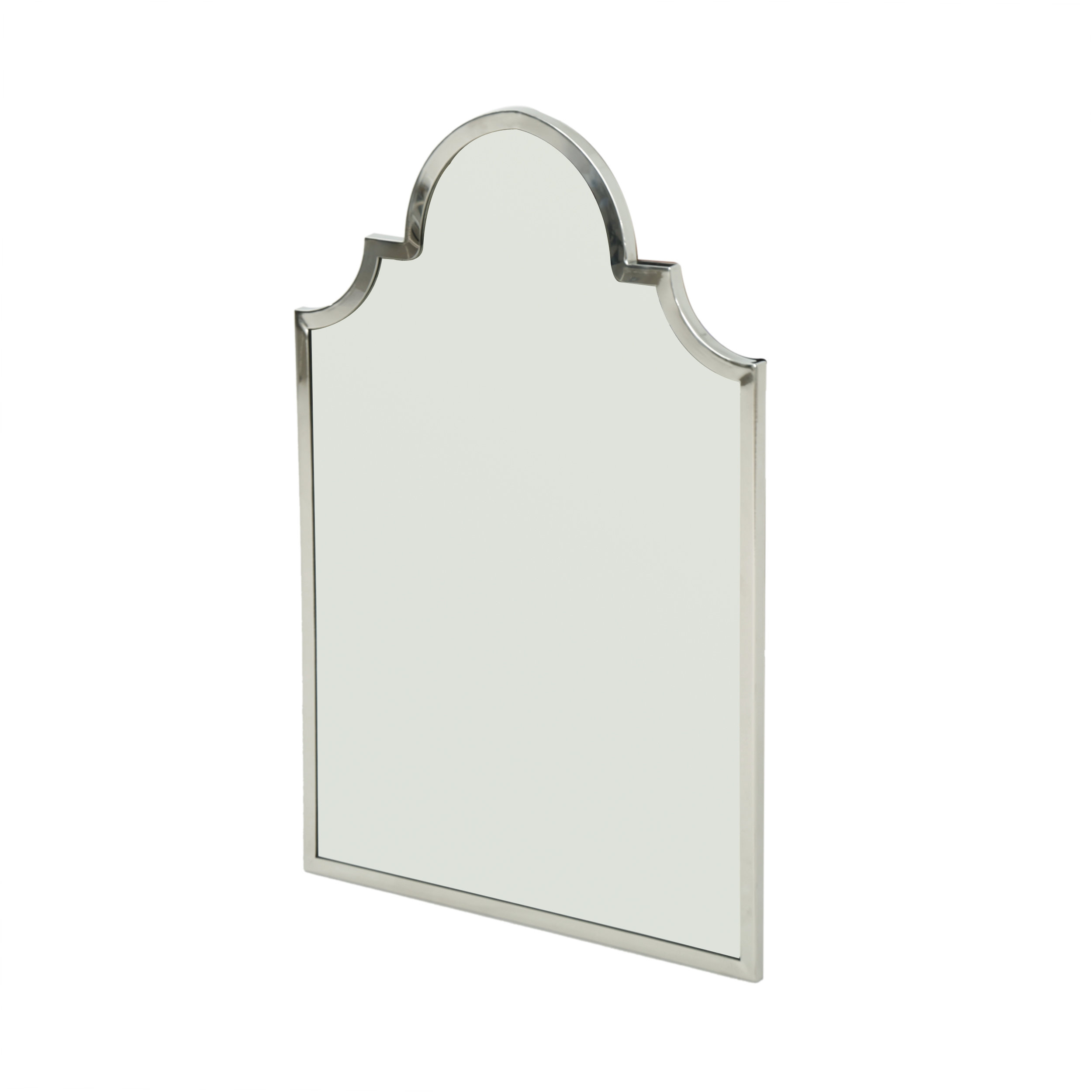Cassel Accent Mirror throughout Dariel Tall Arched Scalloped Wall Mirrors (Image 7 of 30)
