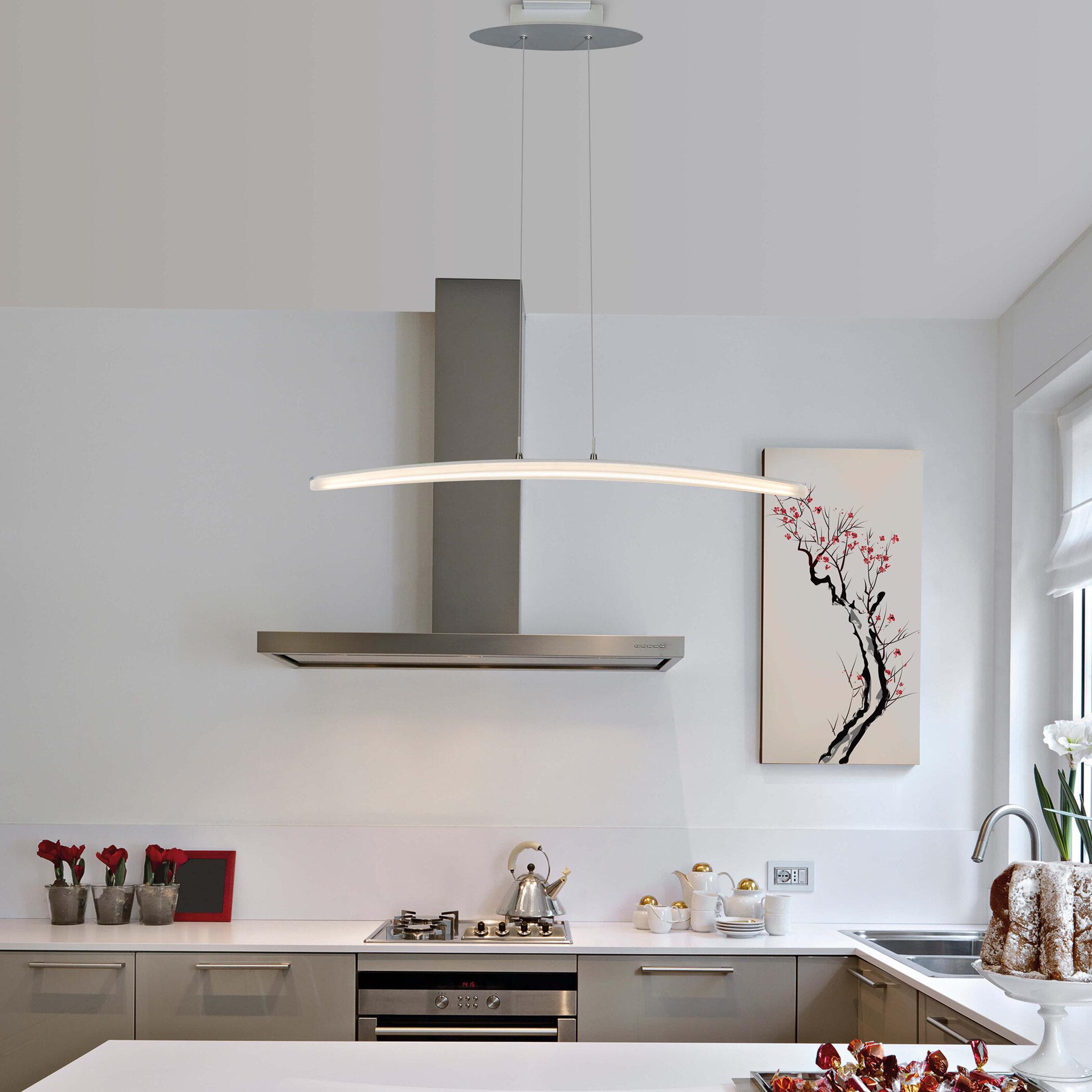 Castella 1-Light Led Kitchen Island Geometric Pendant regarding Callington 1-Light Led Single Geometric Pendants (Image 11 of 30)