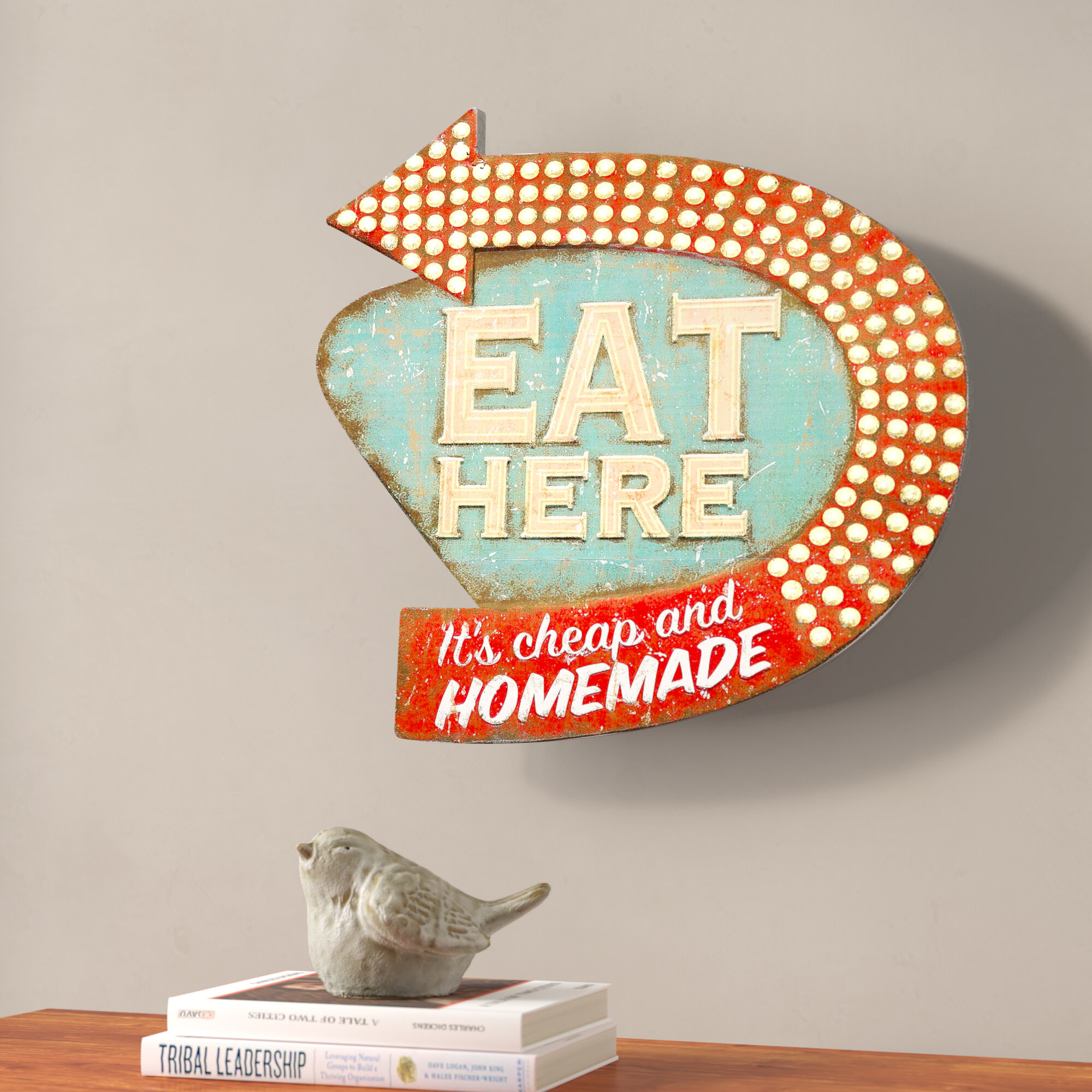 Popular Photo of Casual Country Eat Here Retro Wall Decor