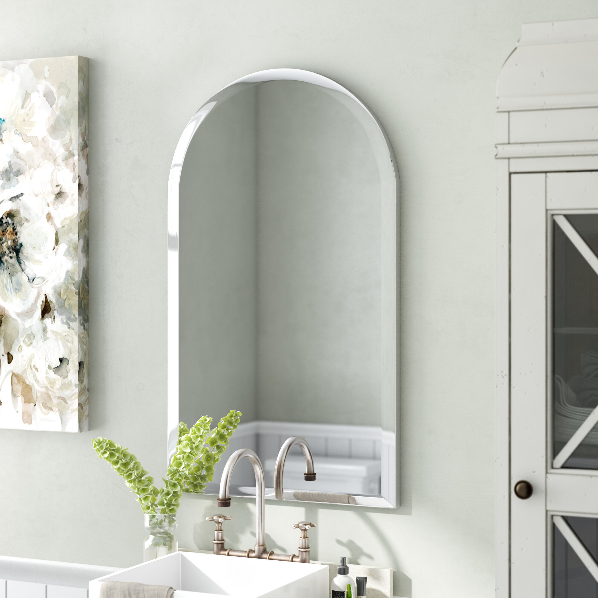 Cathedral Arch Mirror | Wayfair In Fifi Contemporary Arch Wall Mirrors (View 11 of 30)