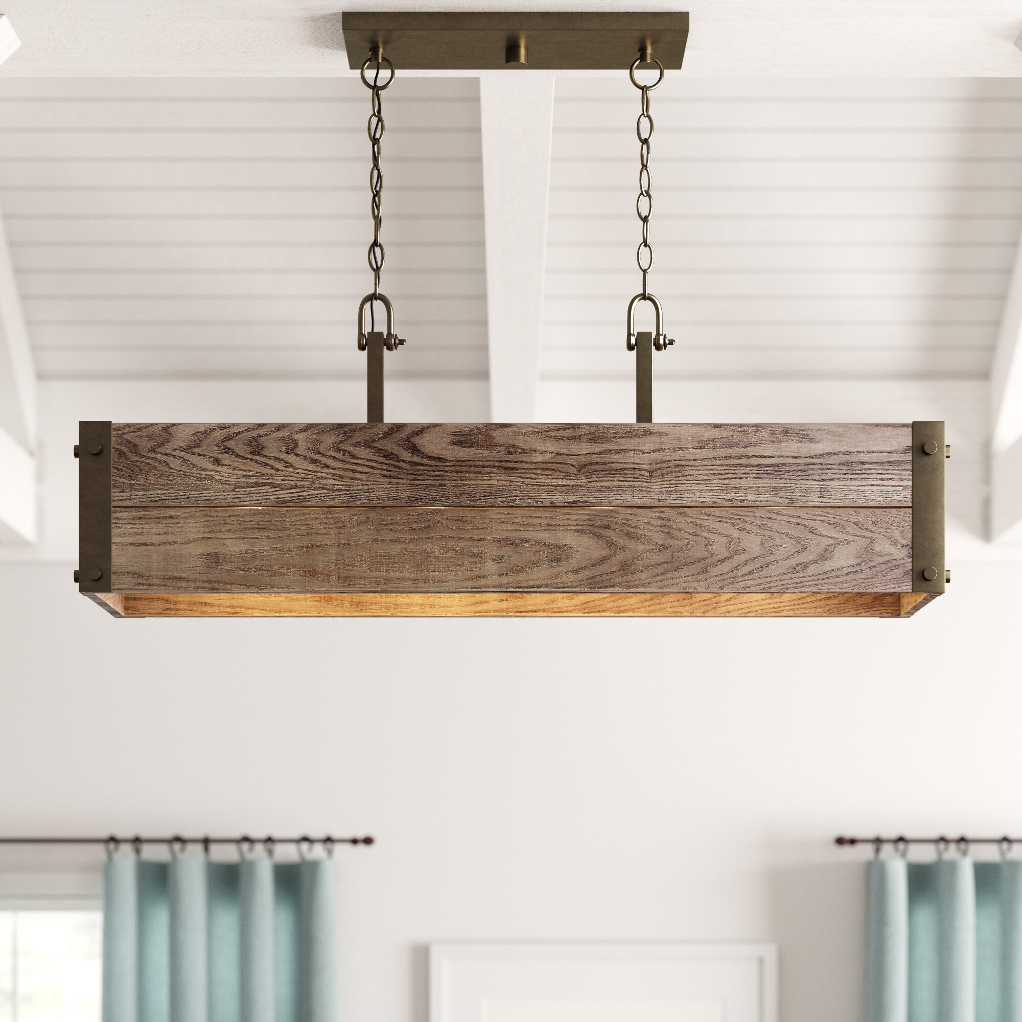 Cathey 4-Light Kitchen Island Linear Pendant inside Cinchring 4-Light Kitchen Island Linear Pendants (Image 7 of 30)