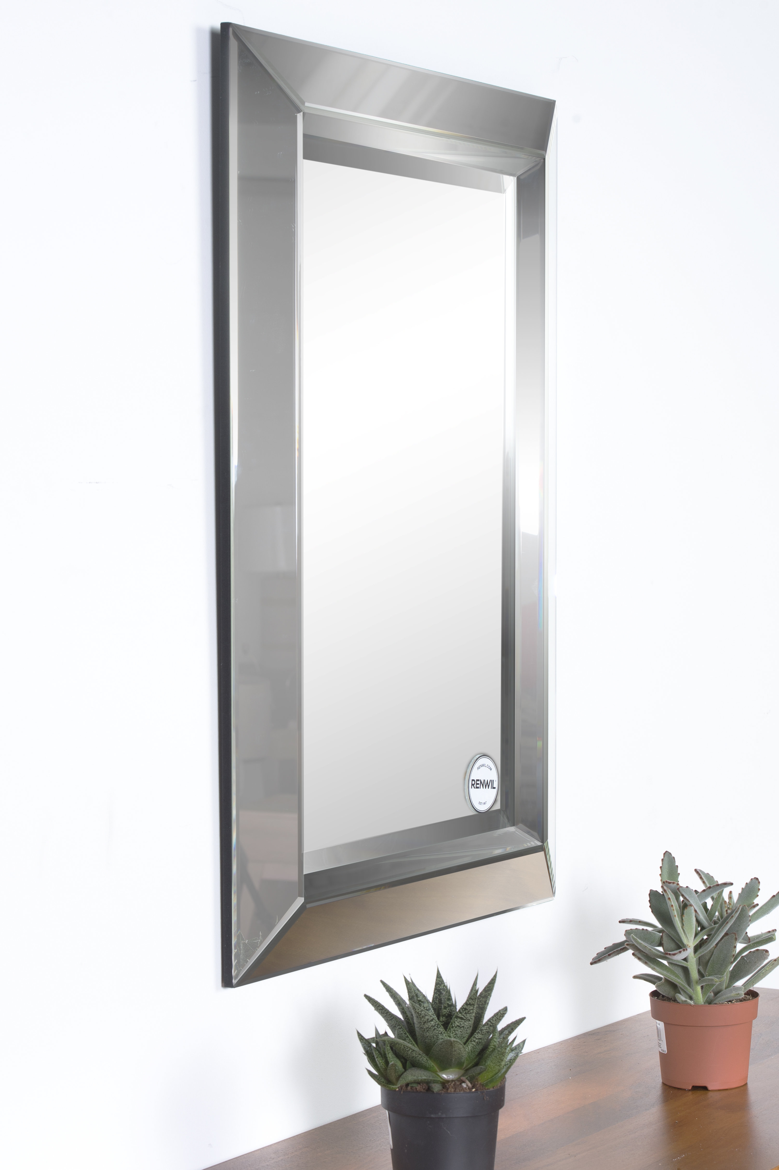 Catoosa Rectangle Framed Accent Wall Mirror Regarding Rectangle Accent Wall Mirrors (View 9 of 30)