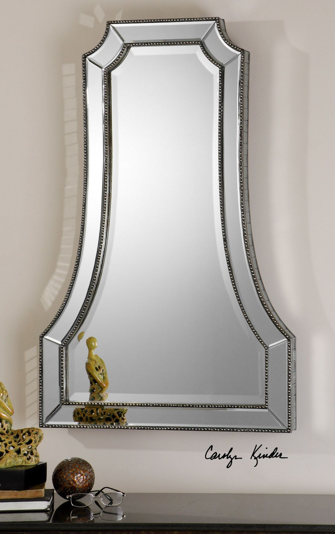 Cattaneo Silver Beaded Mirror | Modern And Contemporary Within Menachem Modern & Contemporary Accent Mirrors (Image 6 of 30)