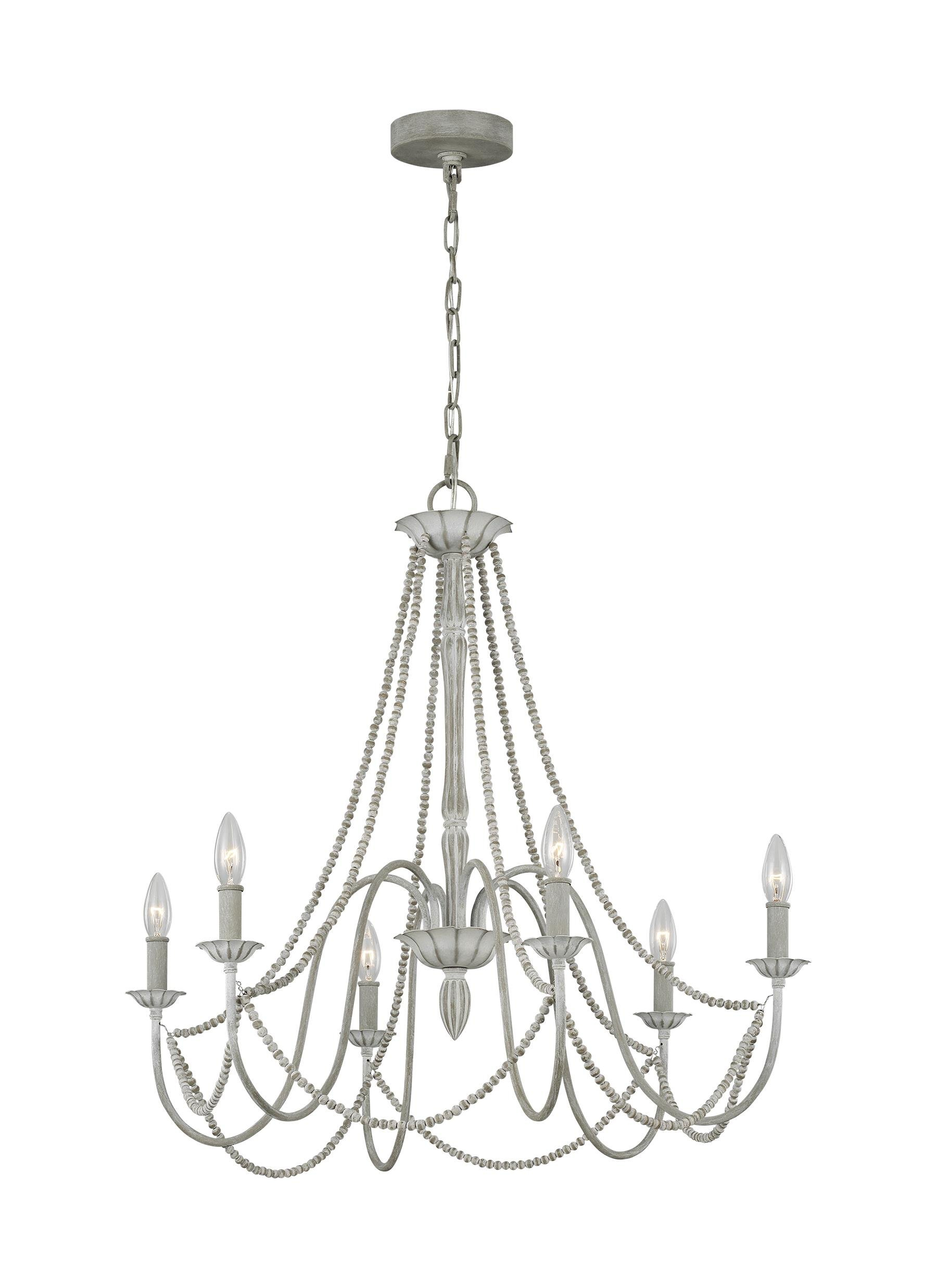 Caufield 6 Light Candle Style Chandelier In Diaz 6 Light Candle Style Chandeliers (View 18 of 30)