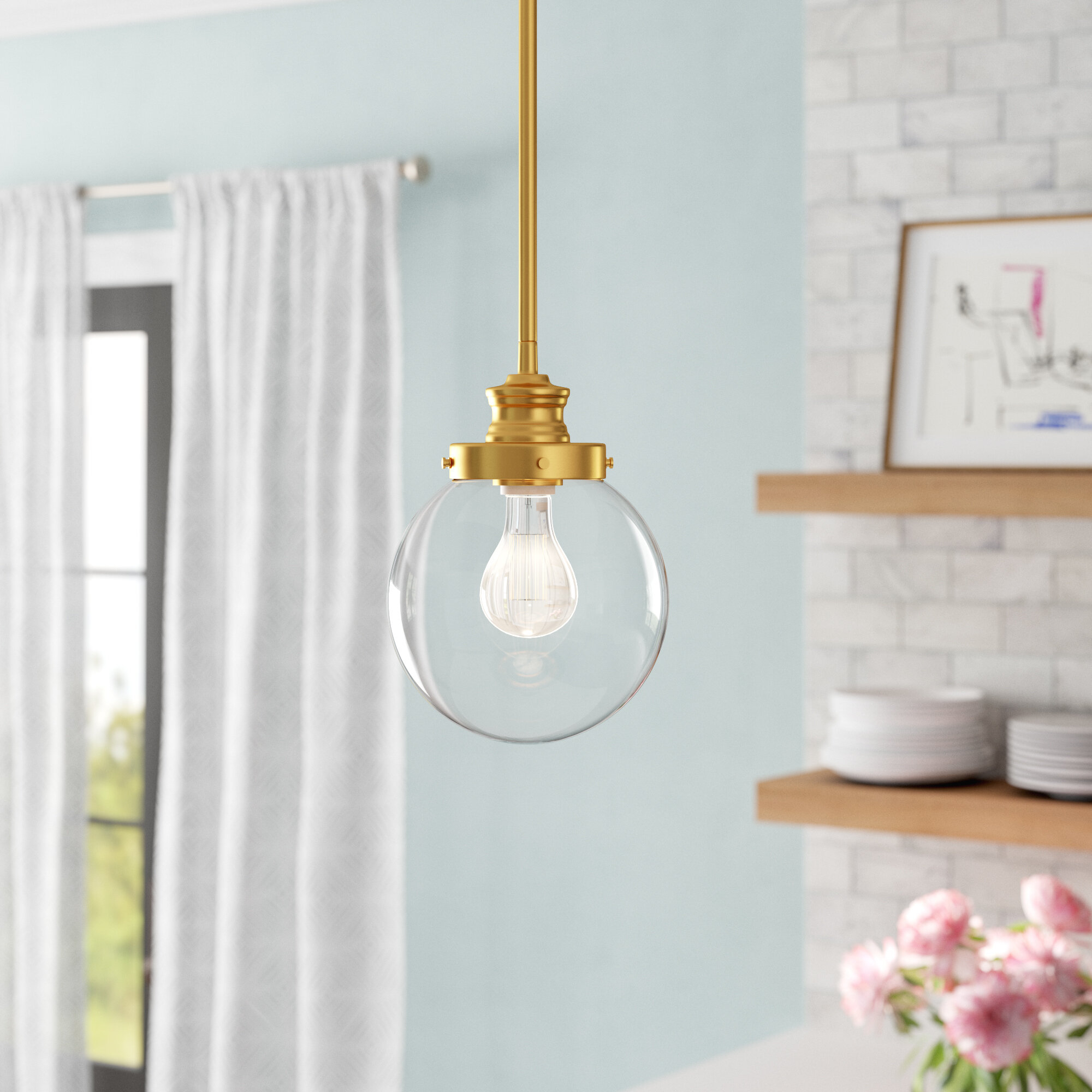 Cayden 1 Light Single Globe Pendant In Cayden 1 Light Single Globe Pendants (View 8 of 30)