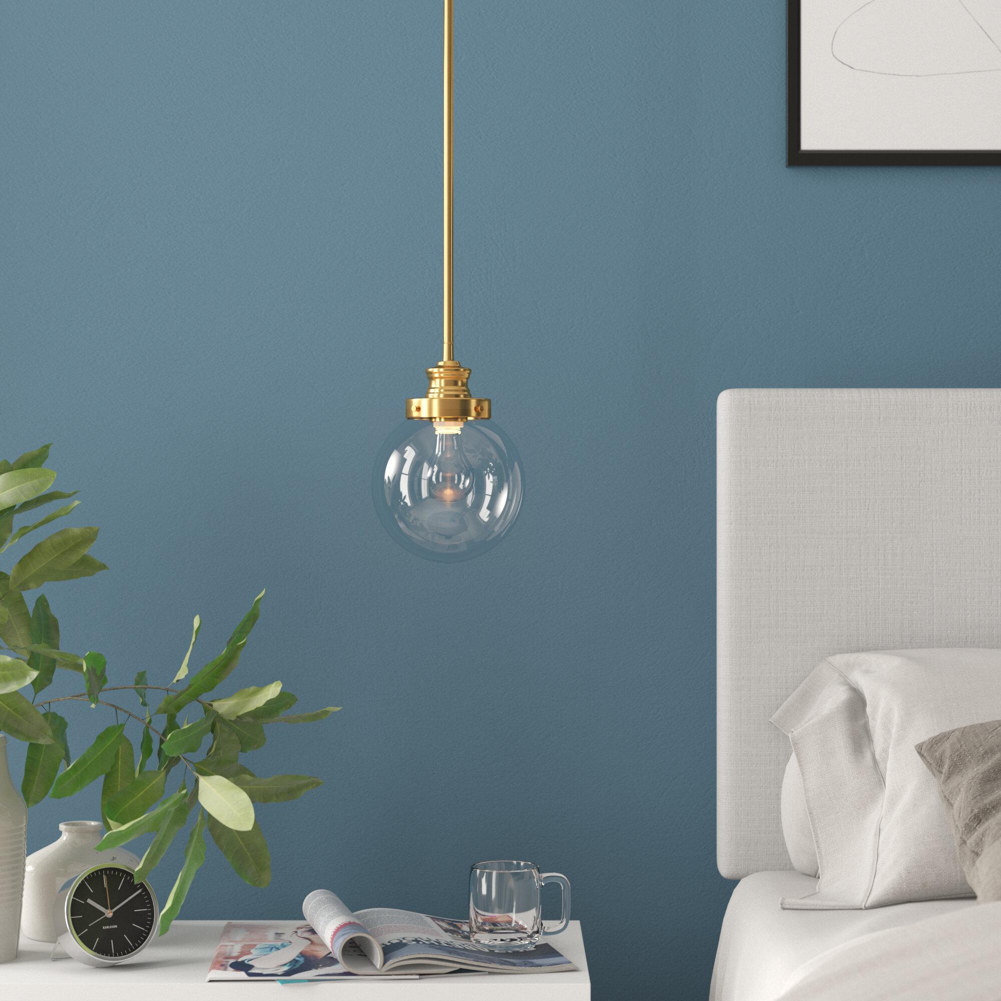 Cayden 1-Light Single Globe Pendant intended for Bautista 1-Light Single Globe Pendants (Image 17 of 30)