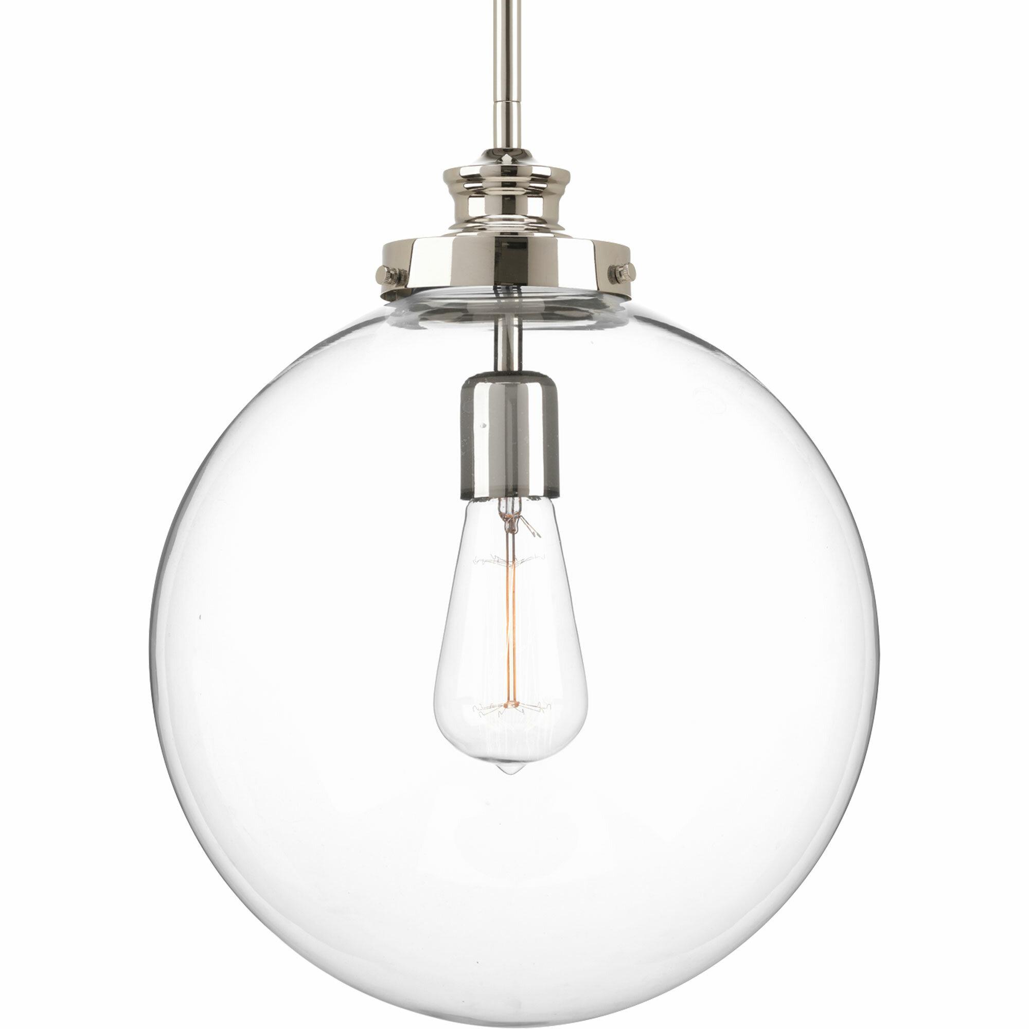 Cayden 1 Light Single Globe Pendant Pertaining To 1 Light Globe Pendants (View 9 of 30)