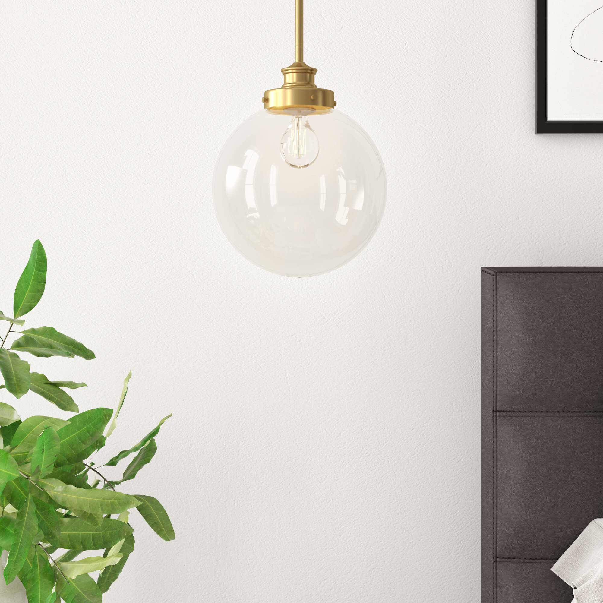 Cayden 1-Light Single Globe Pendant regarding Bautista 1-Light Single Globe Pendants (Image 18 of 30)