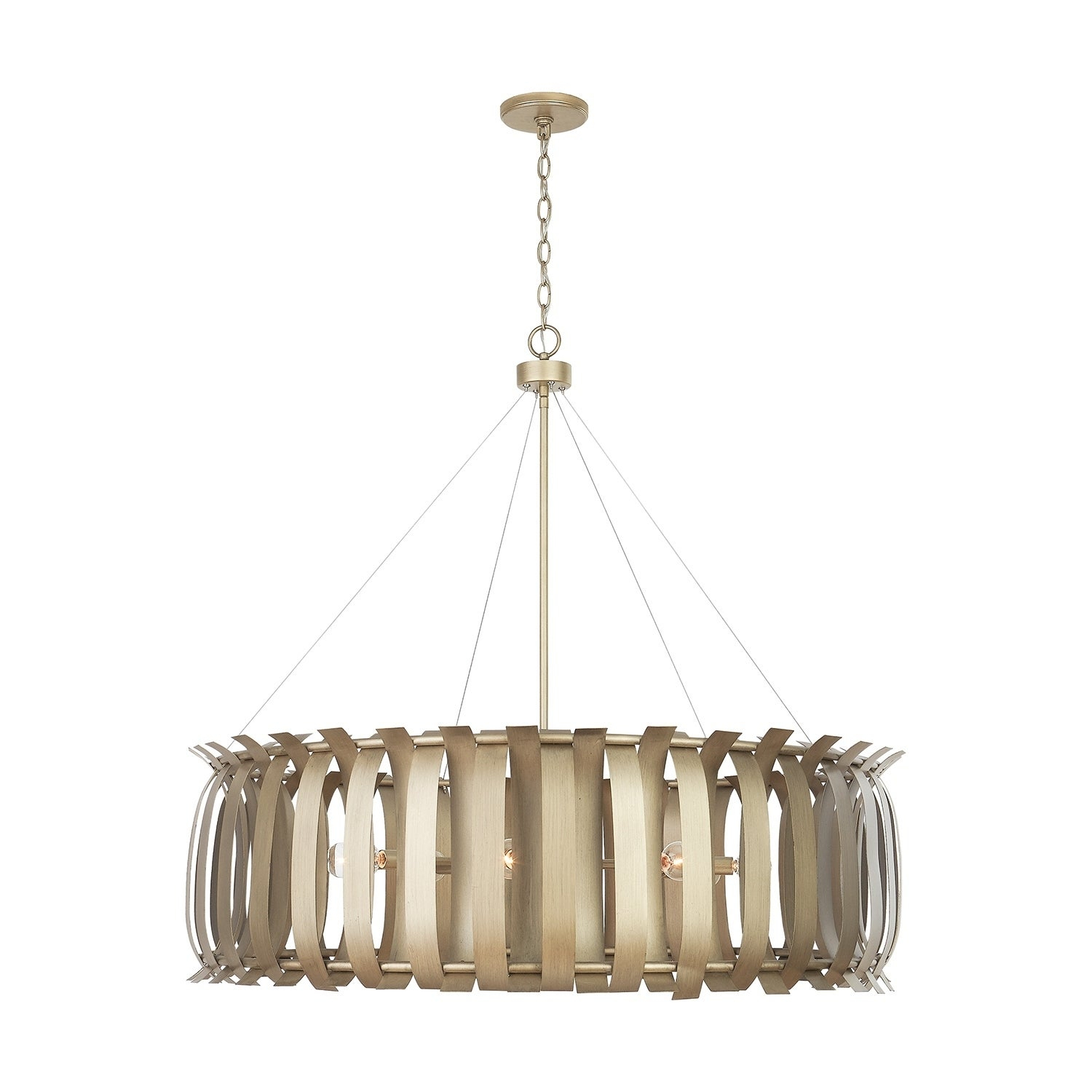 Cayden 8 Light Aged Brass Painted Chandelier Intended For Cayden 1 Light Single Globe Pendants (View 13 of 30)