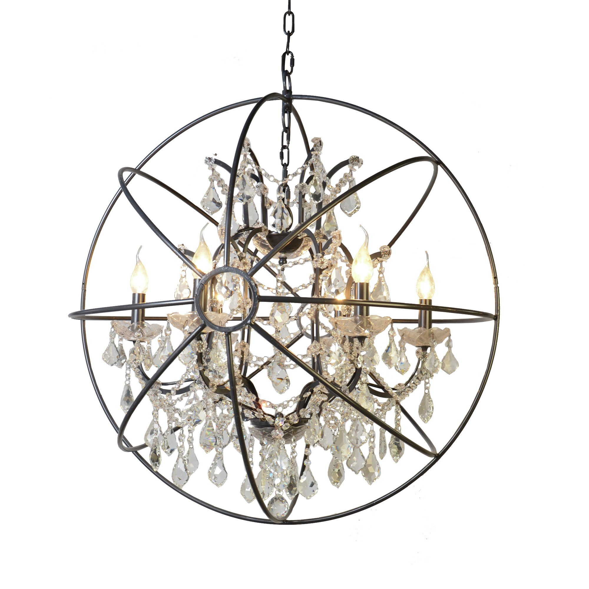 Cearbhall 6 Light Globe Chandelier For Alden 6 Light Globe Chandeliers (Image 9 of 30)