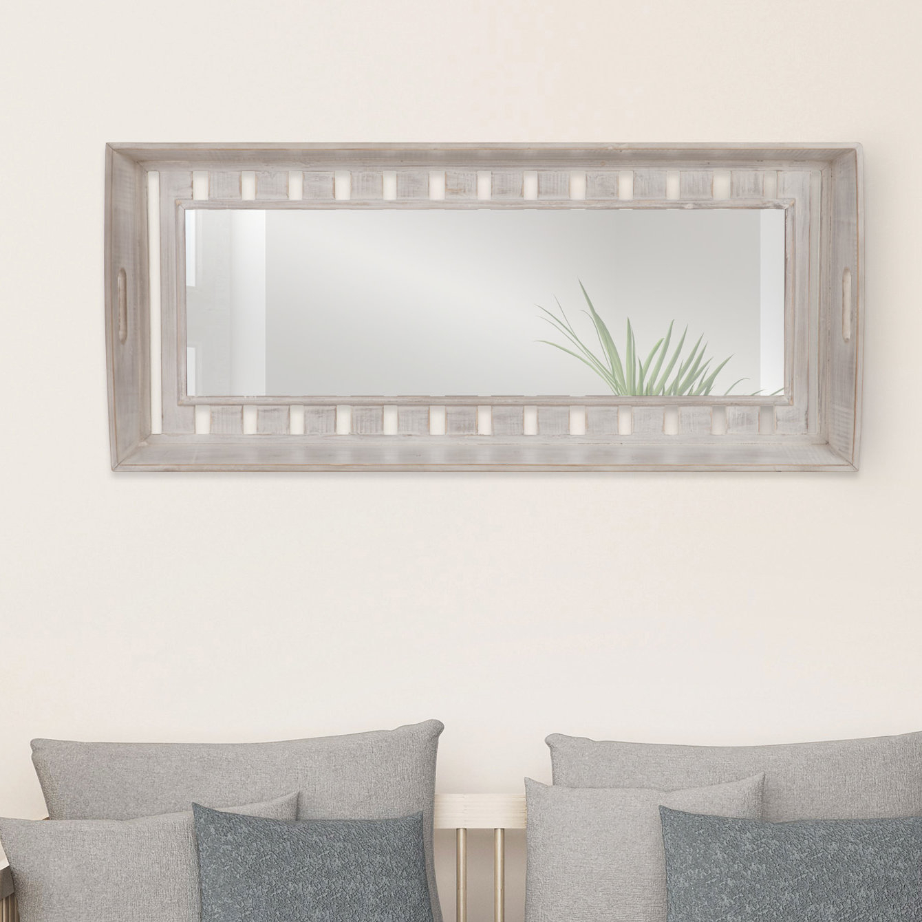 Cecilia Rustic Wood Plank Accent Mirror Inside Epinal Shabby Elegance Wall Mirrors (View 5 of 30)