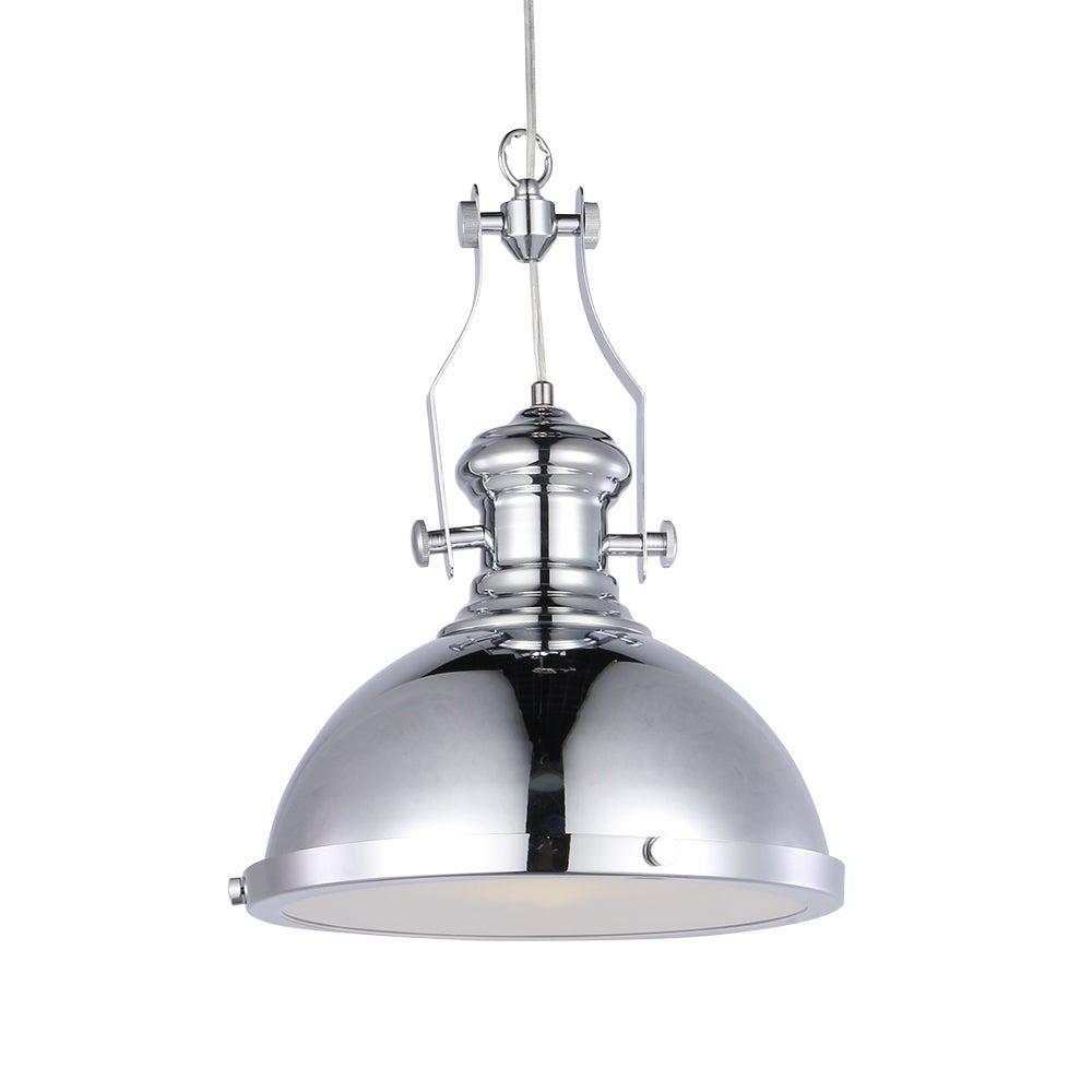 Celone 1 Light Chrome 13 Inch Pendant Lamp Pertaining To Devereaux 1 Light Single Globe Pendants (View 16 of 30)
