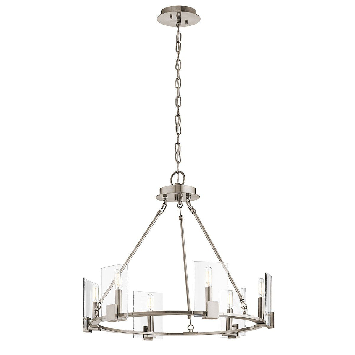 Chandeliers 6 Light With Classic Pewter Finish Aluminum throughout Sherri 6-Light Chandeliers (Image 4 of 30)