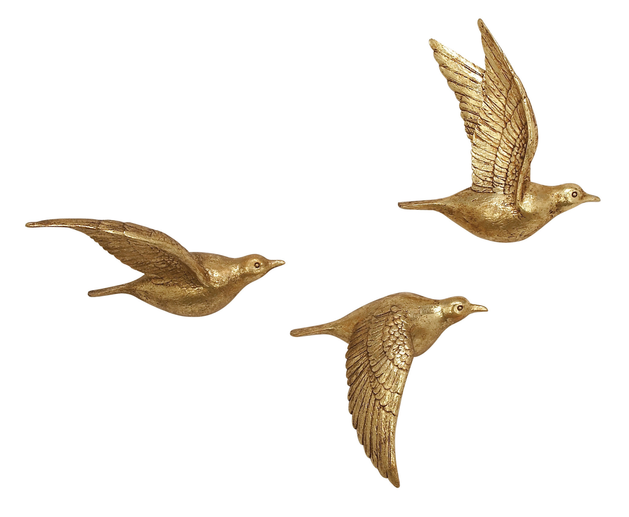 Charlton Home 3 Piece Polystone Bird Wall Décor Set Throughout Rioux Birds On A Wire Wall Decor (View 24 of 30)
