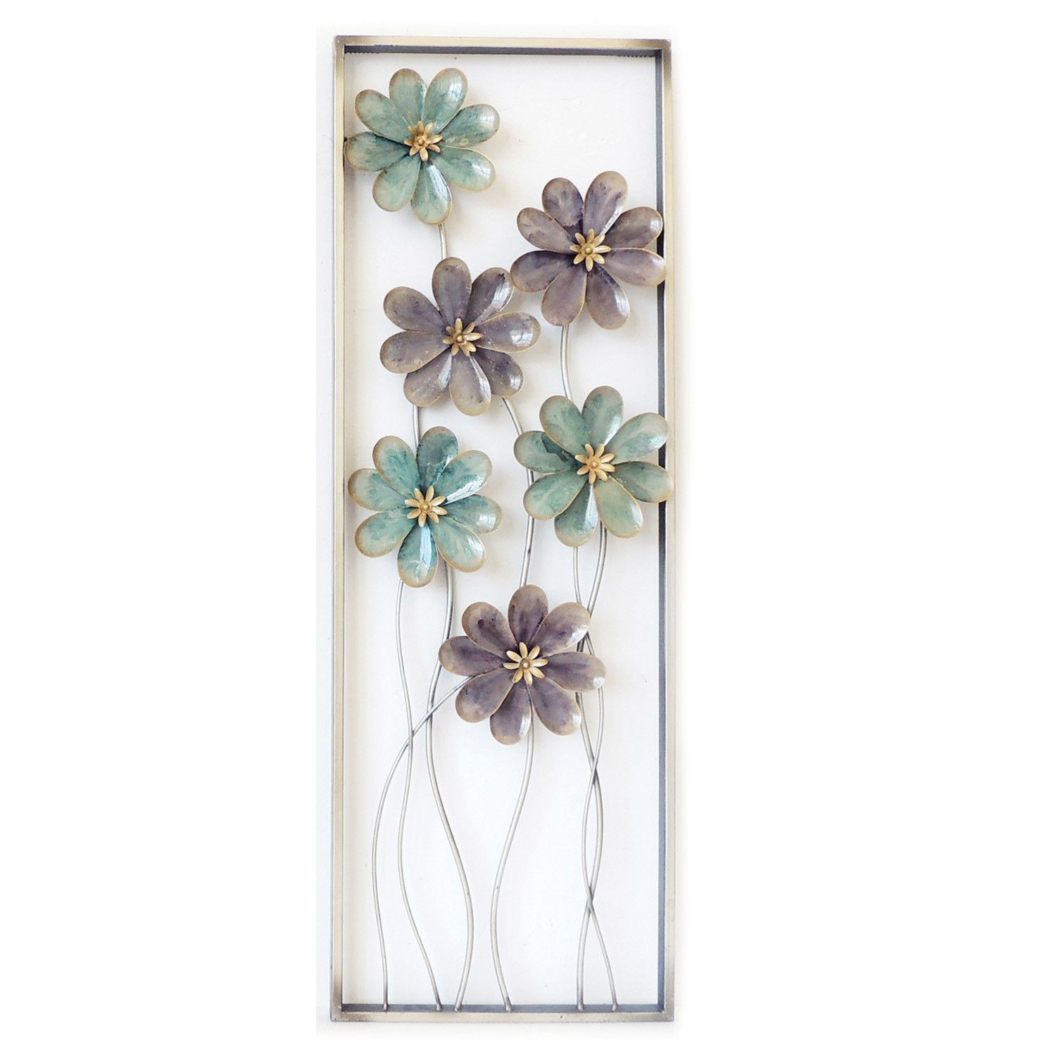Charlton Home 6 Flowers On Stem Wall Decor | Ideas For The regarding Metal Wall Decor By Charlton Home (Image 6 of 30)