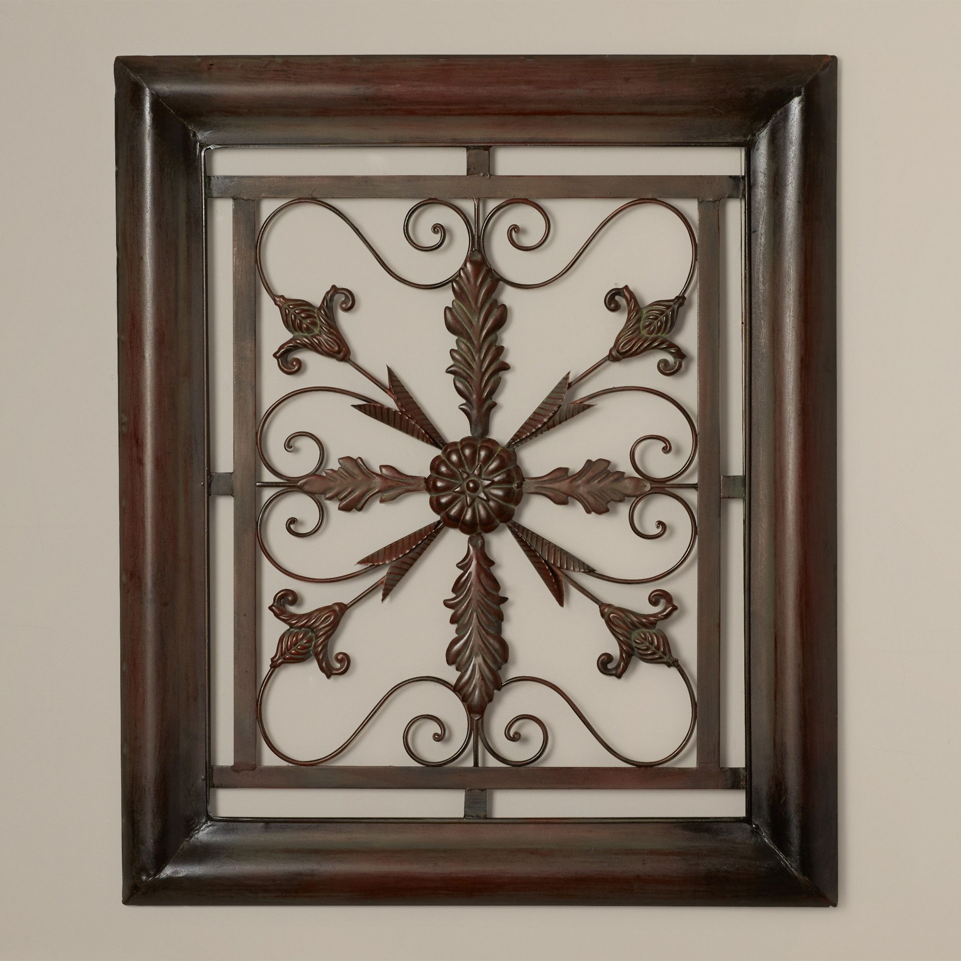 Charlton Home® Bayliss Square Scroll Wall Decor | Tuscan for Metal Wall Decor By Charlton Home (Image 9 of 30)