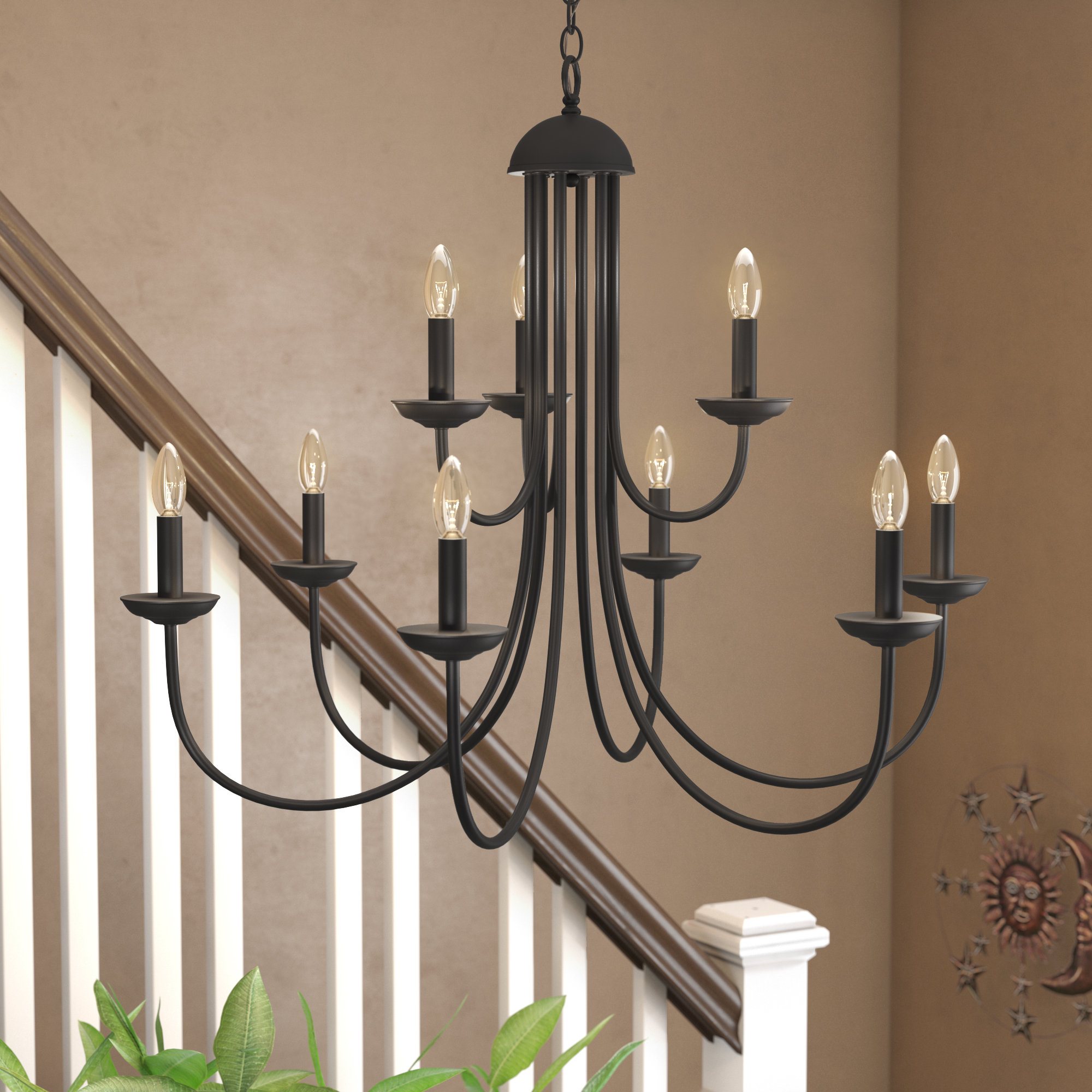 Charlton Home Bordelon 9-Light Chandelier pertaining to Watford 9-Light Candle Style Chandeliers (Image 6 of 30)