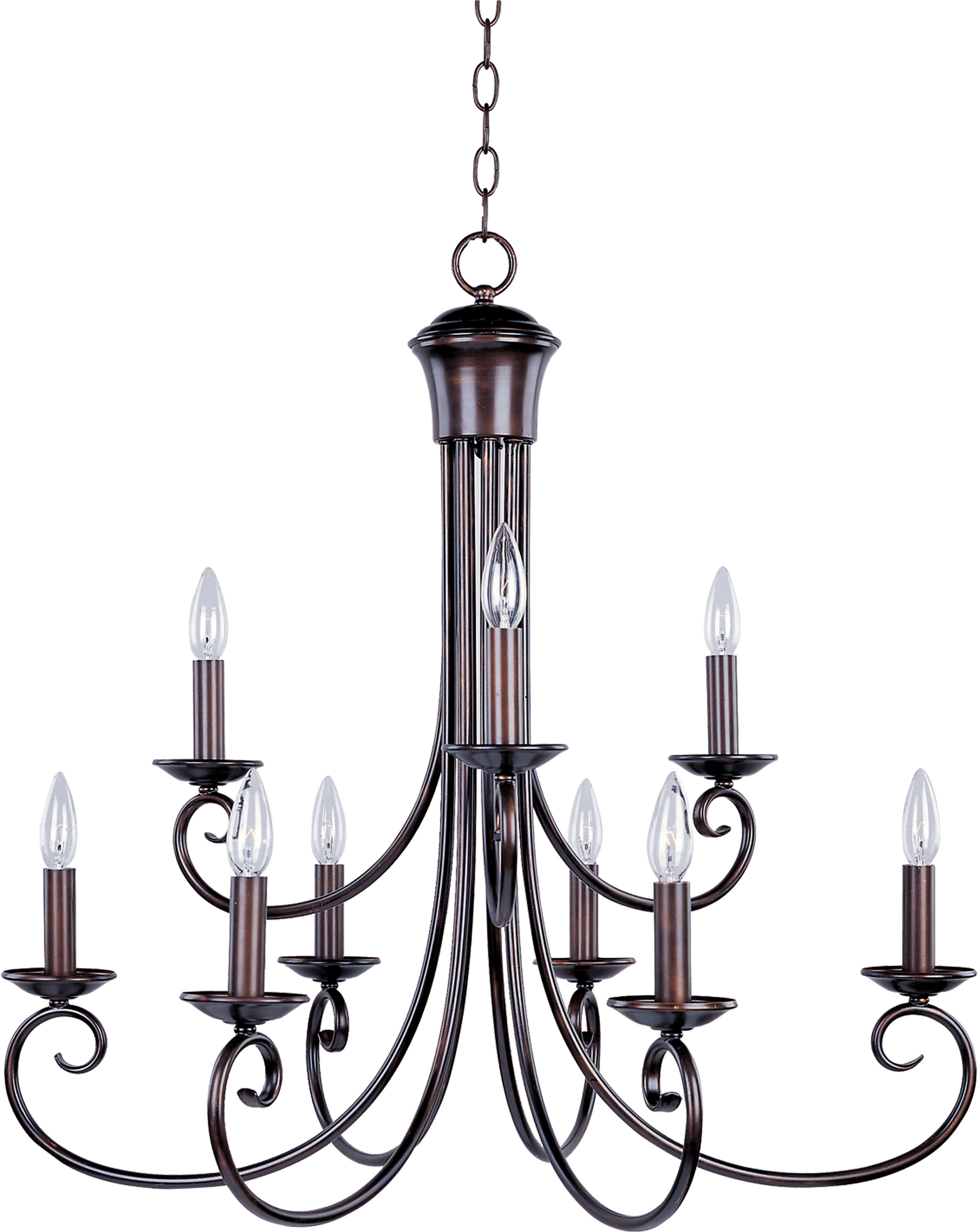Charlton Home Kenedy 9-Light Candle Style Chandelier pertaining to Camilla 9-Light Candle Style Chandeliers (Image 9 of 30)