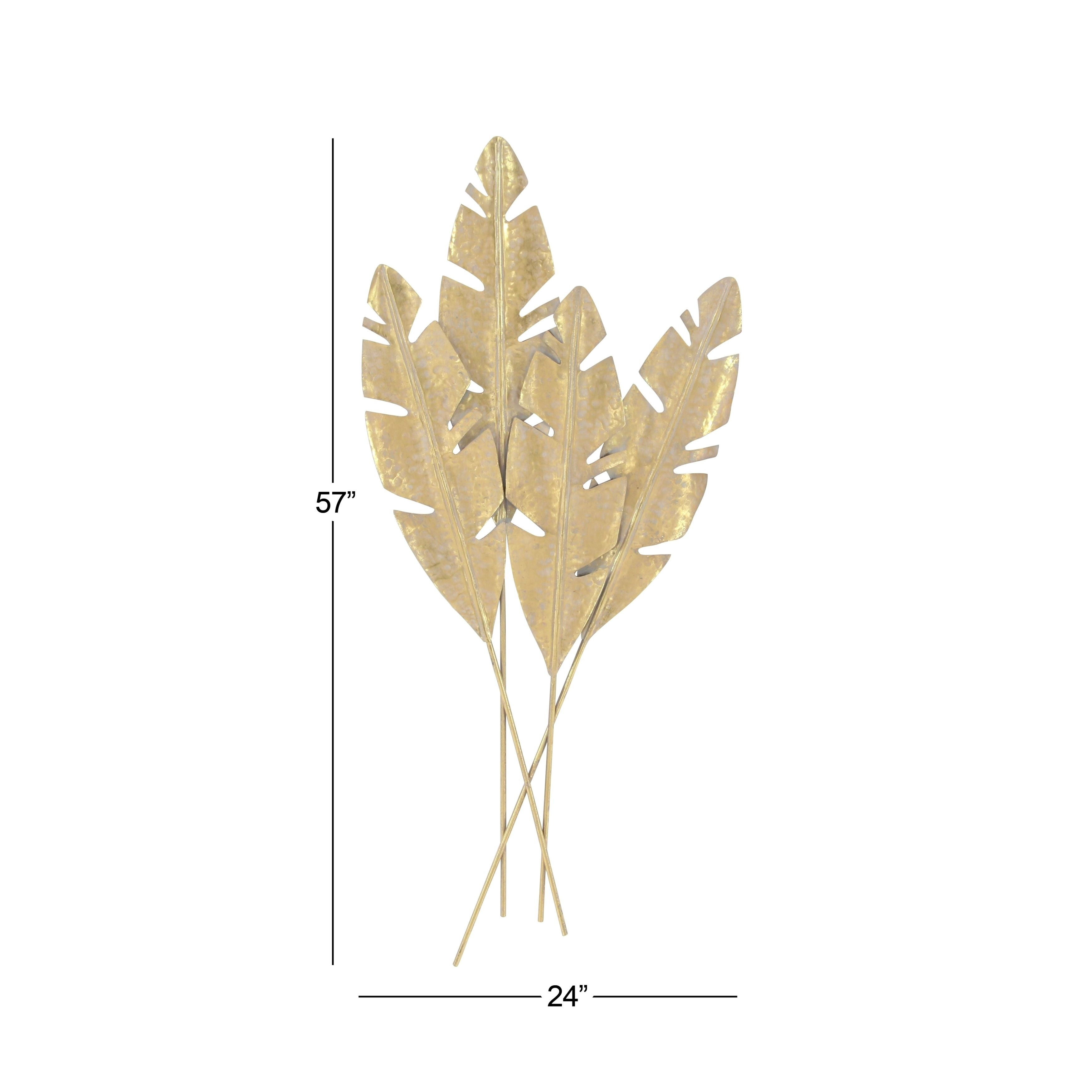 Charming Metal Leaves Wall Decor Pictures Inspiration The inside Desford Leaf Wall Decor (Image 8 of 30)