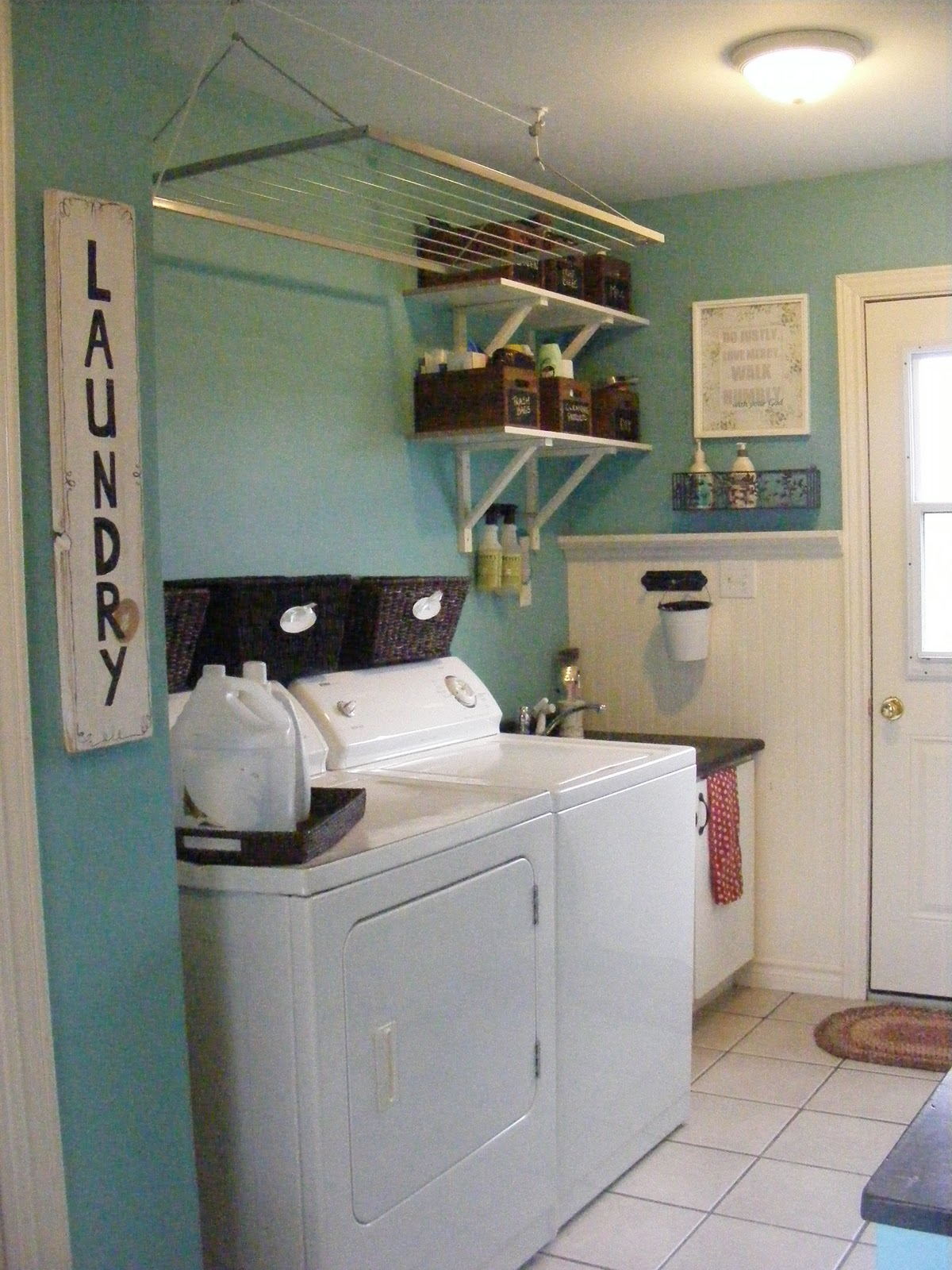 Charming White Wall Shelves For Laundry Room And Glamorous With Metal Laundry Room Wall Decor (View 18 of 30)