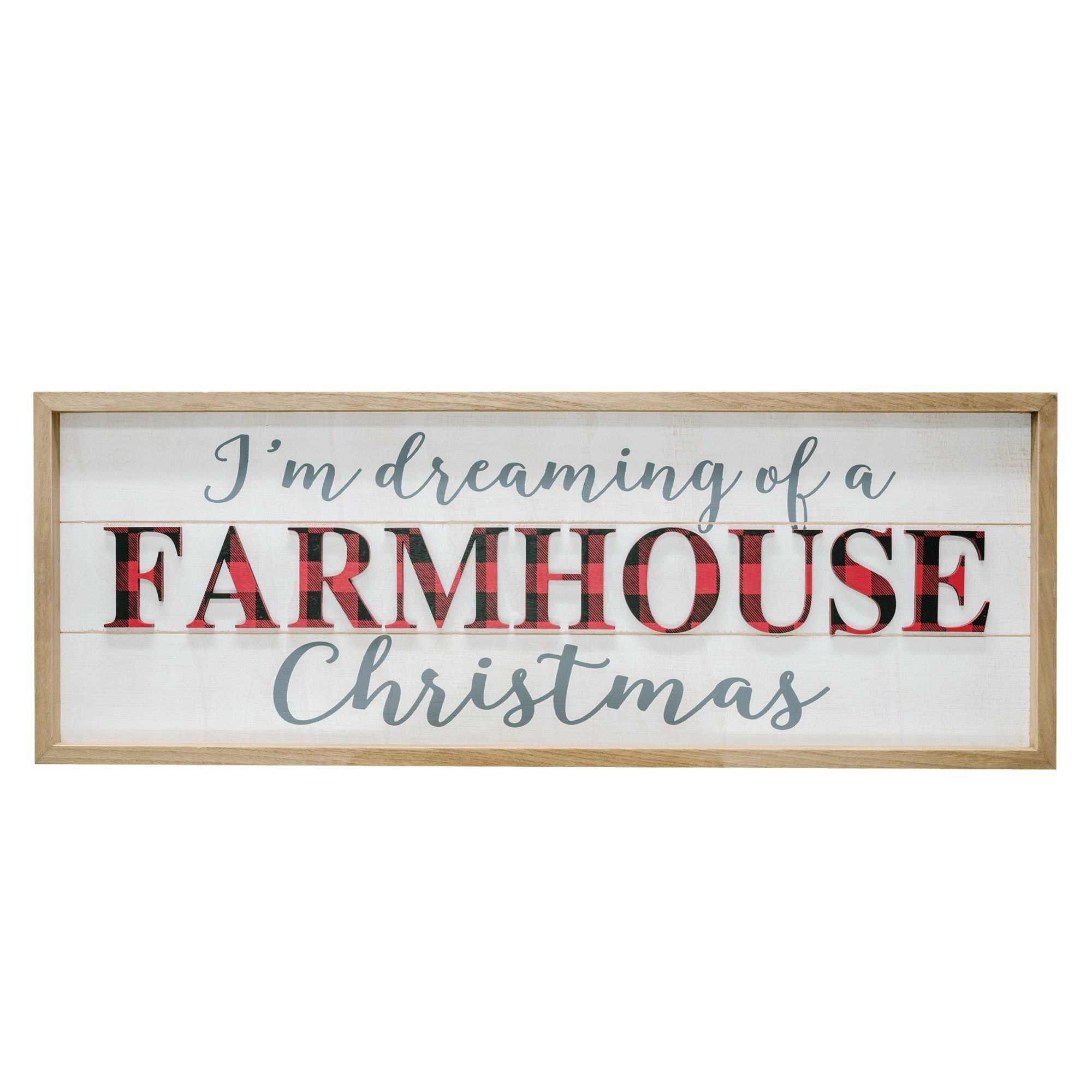 Check Farmhouse Christmas Sign Wall Décor In Fawcett Thankful Heart Wall Decor (View 22 of 30)