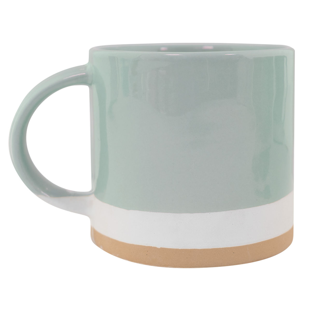 Cheesecake Hand Painted Mug - Blue in Decorative Three Stacked Coffee Tea Cups Iron Widget Wall Decor (Image 6 of 30)