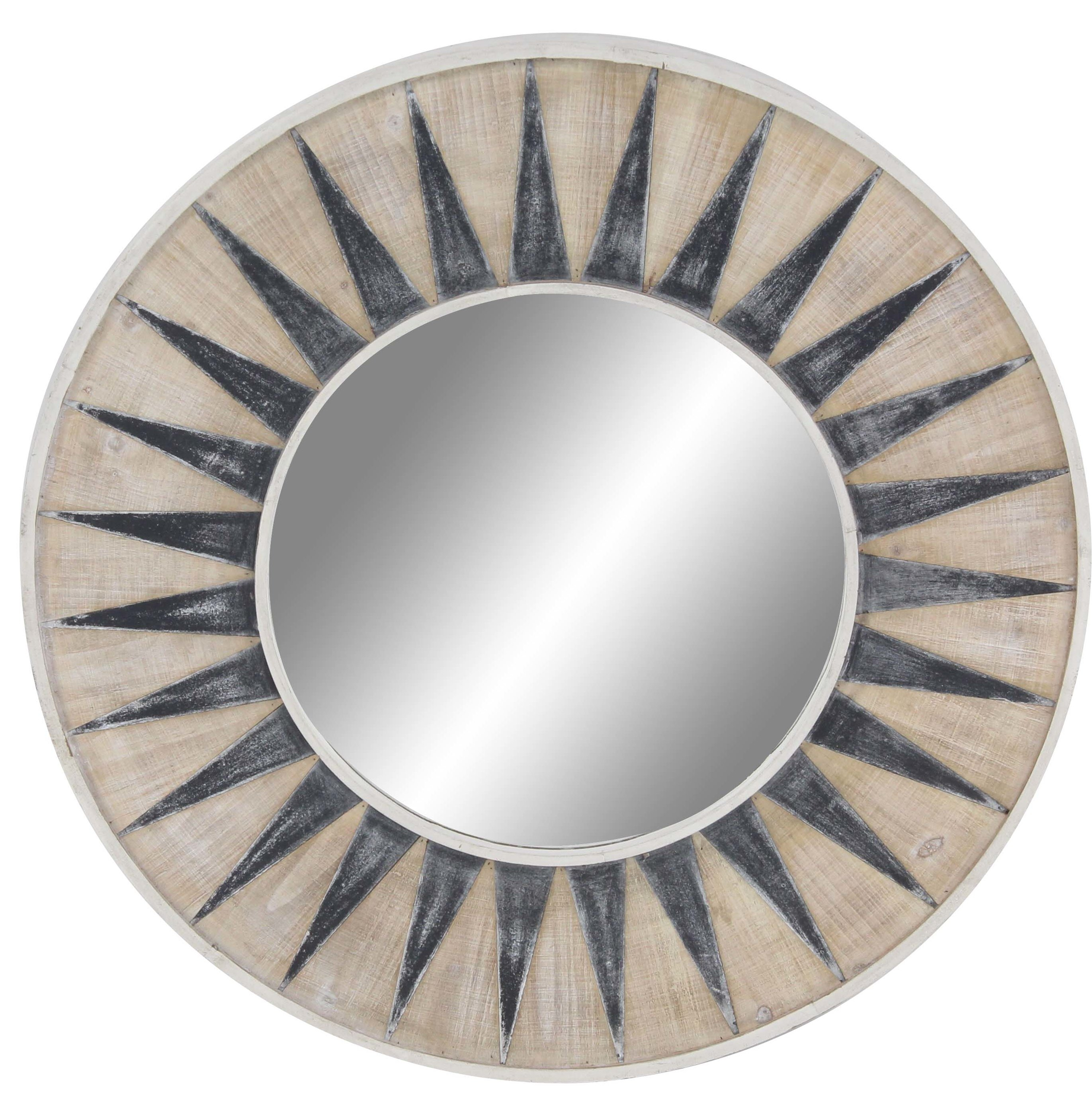 Chessington Modern Sun Themed Accent Mirror Within Estrela Modern Sunburst Metal Wall Mirrors (View 3 of 30)