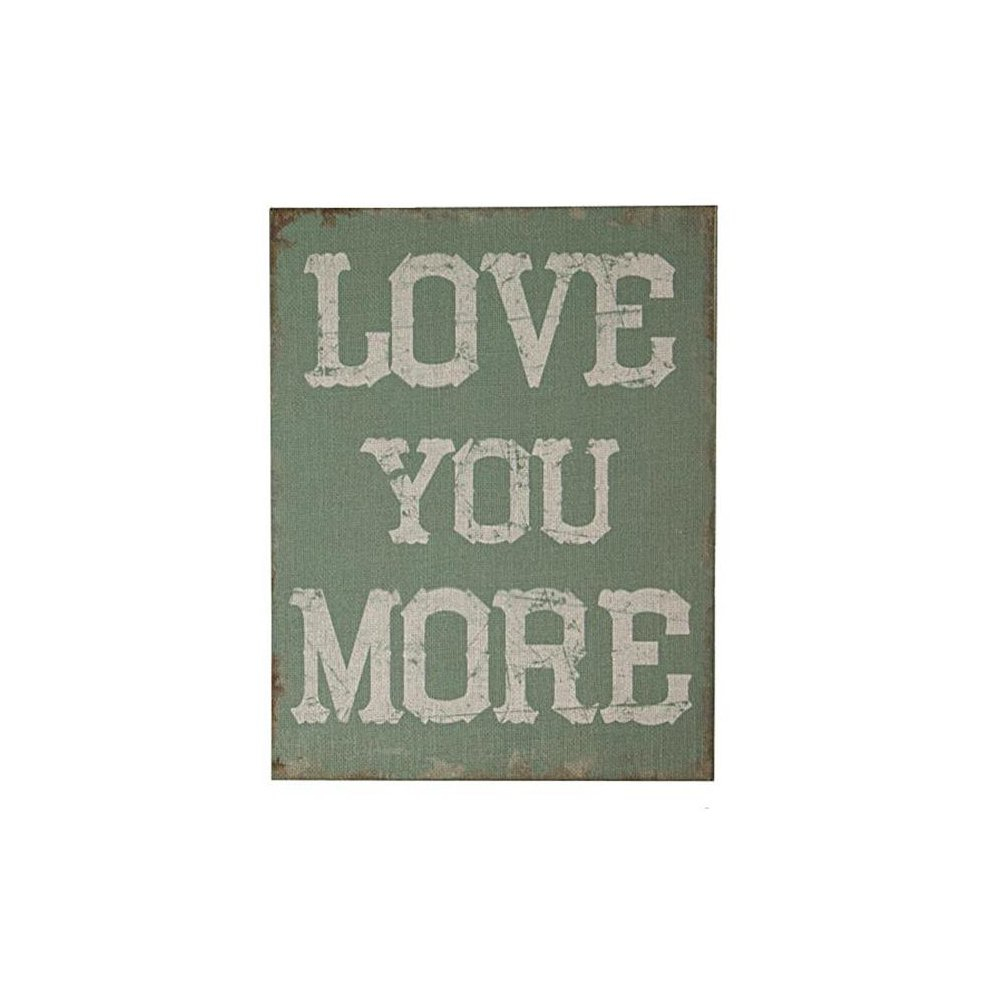 Cheungs Fp-3928 Love You More Wooden Wall Art On Canvas throughout 'Love You More' Wood Wall Decor (Image 7 of 30)
