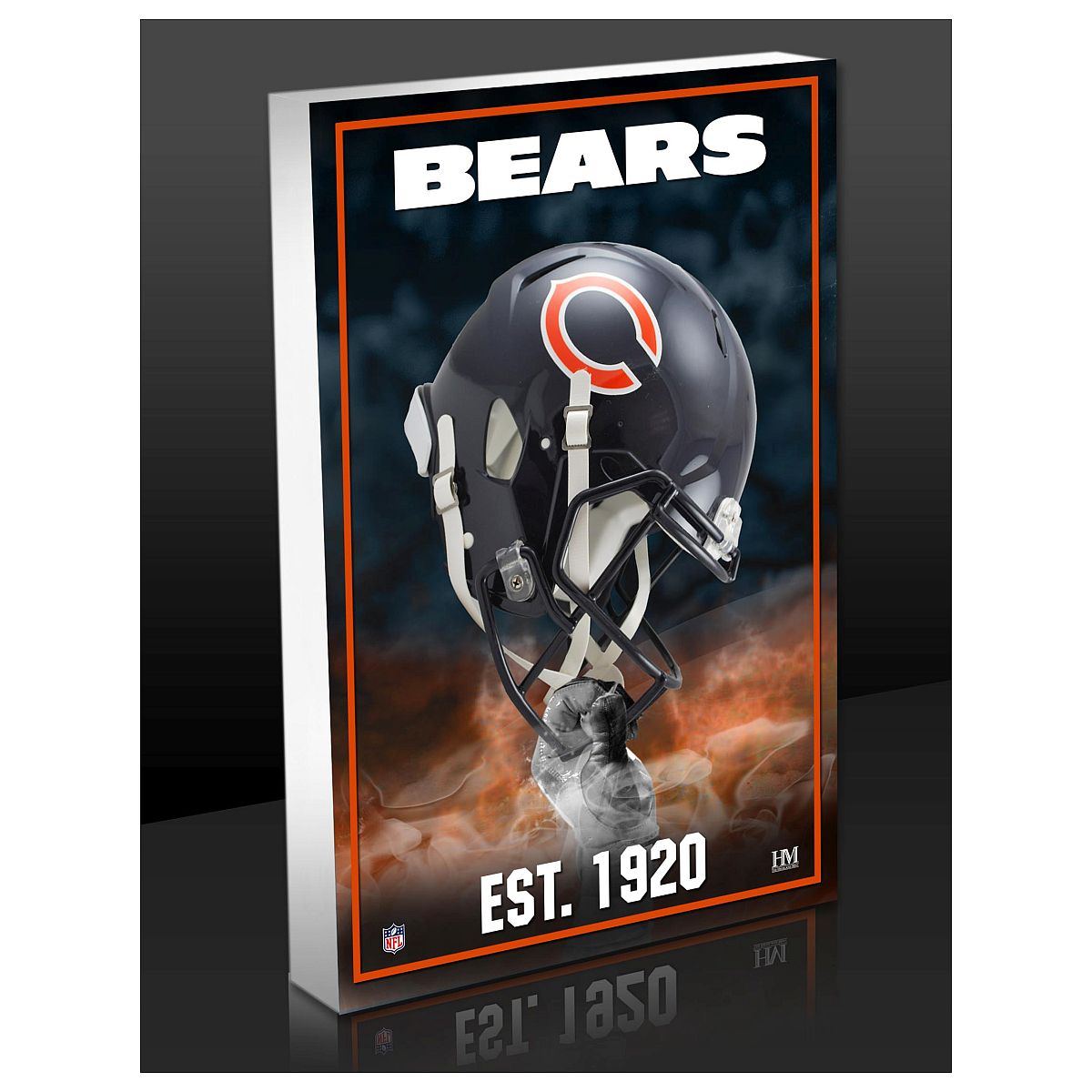 Chicago Bears Team Pride 3D Acrylic Block | Shop The pertaining to American Pride 3D Wall Decor (Image 7 of 30)