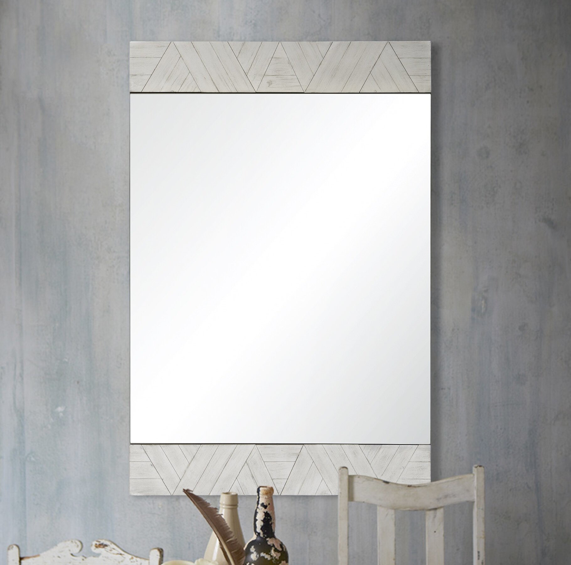Chokio Rustic Accent Mirror With Rena Accent Mirrors (View 6 of 30)