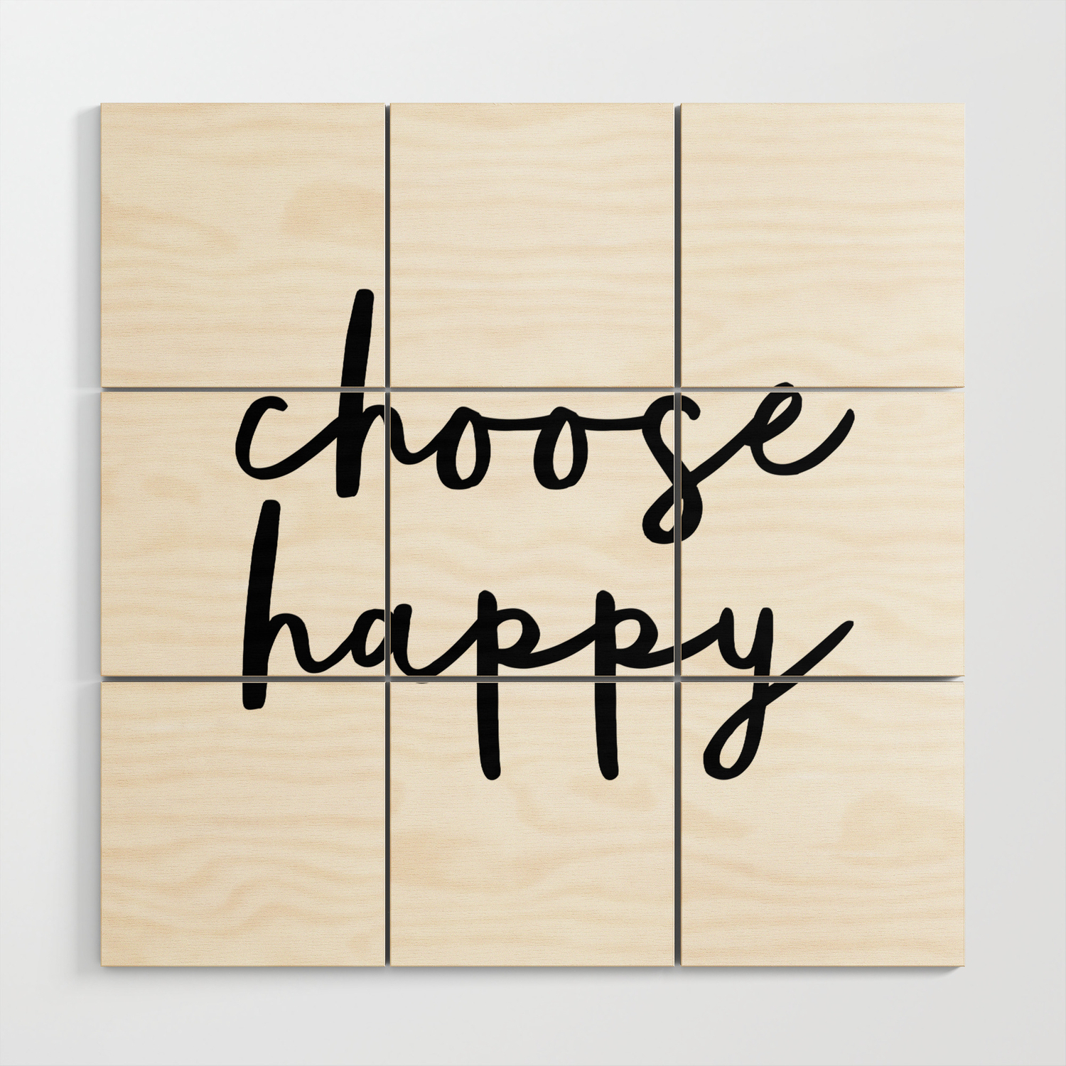 Choose Happy Black And White Contemporary Minimalism Typography Design Home  Wall Decor Bedroom Wood Wall Artthemotivatedtype with Choose Happy Wood Wall Decor (Image 9 of 30)